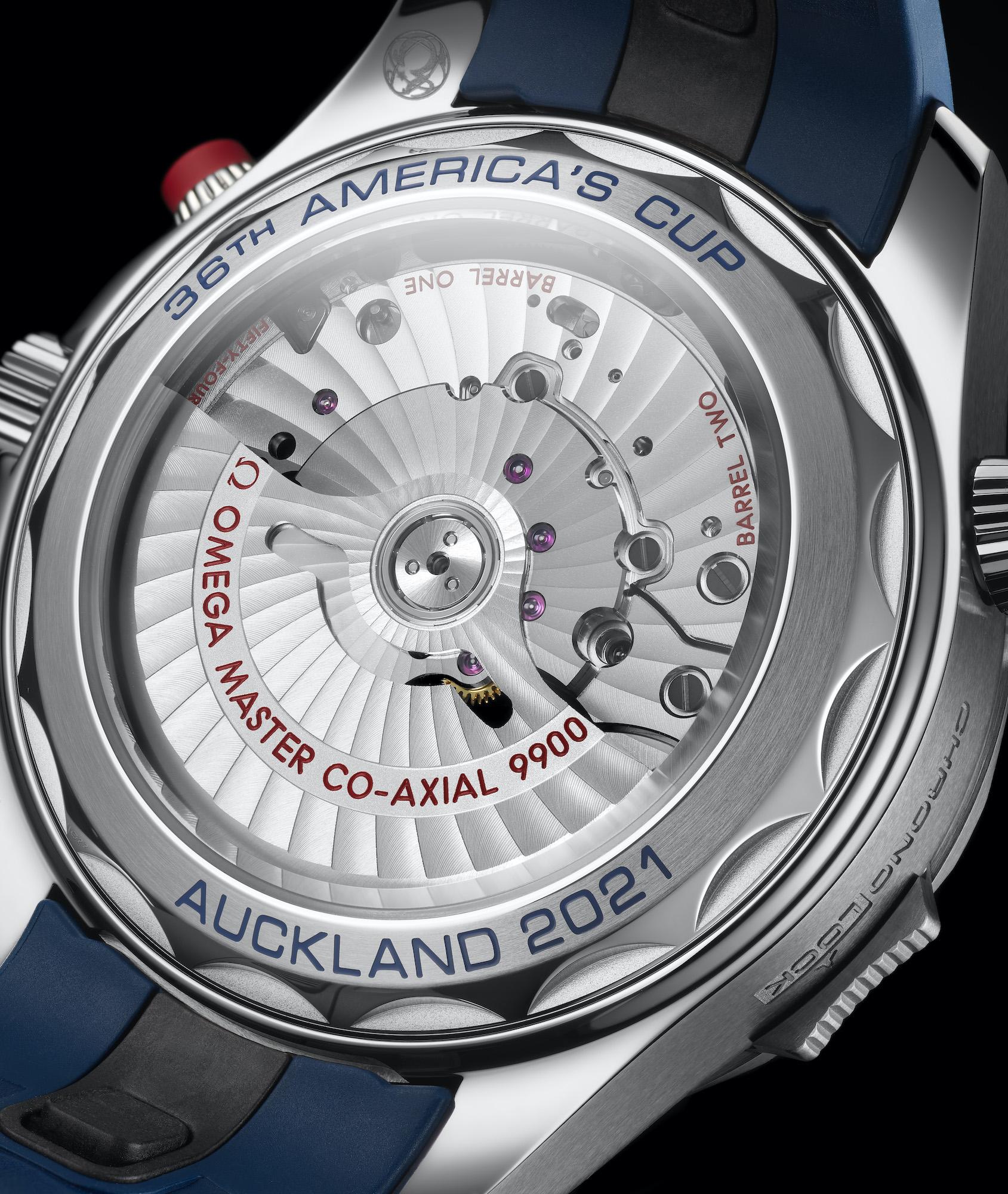 Omega Seamaster Diver 300M Americas Cup Chronograph 210.30.44.51.03.002 Detalle trasera