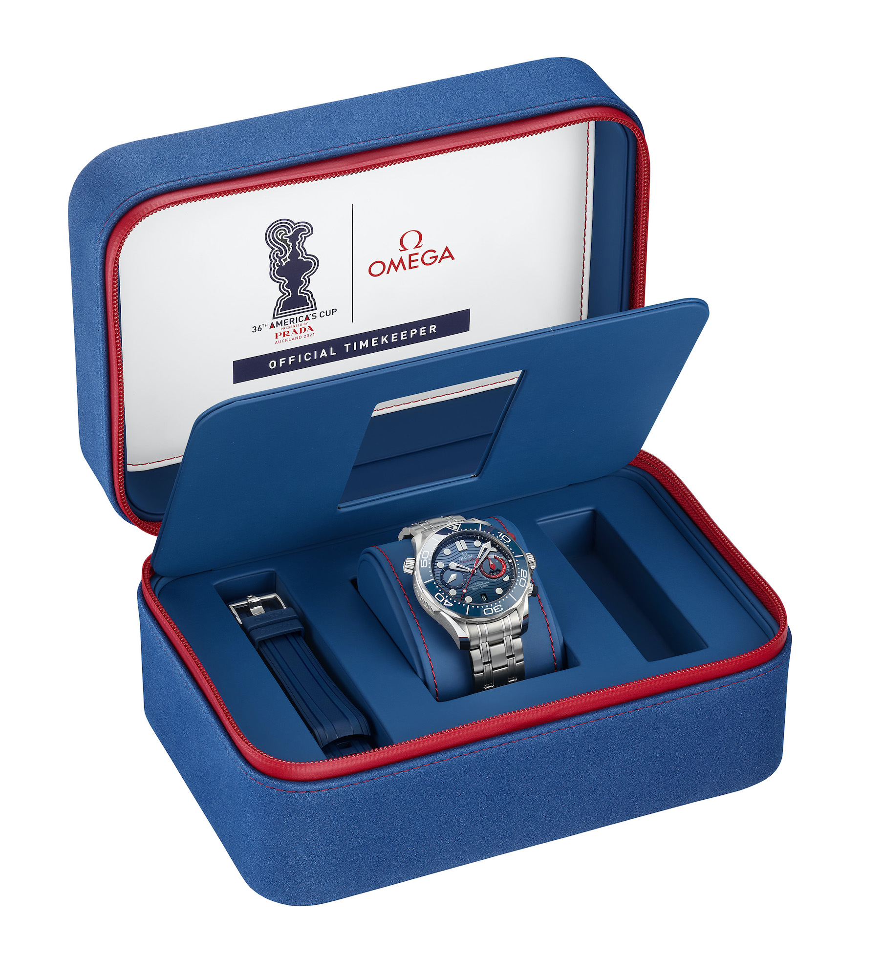 Omega Seamaster Diver 300M Americas Cup Chronograph 210.30.44.51.03.002 Estuche