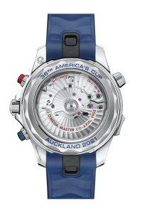 Omega Seamaster Diver 300M Americas Cup Chronograph 210.30.44.51.03.002 Trasera correa caucho