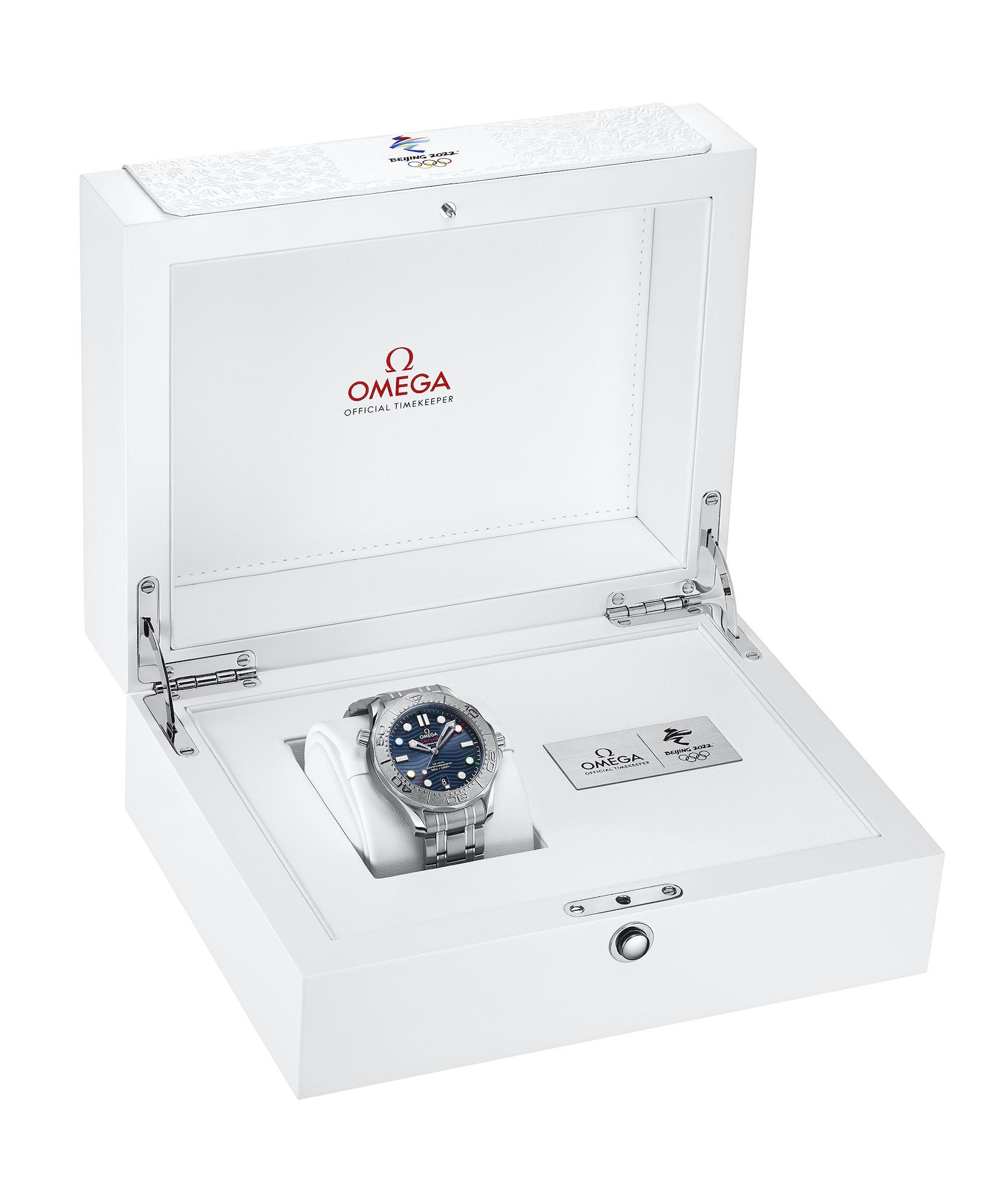 Omega Seamaster Diver 300M Beijing 2022 522.30.42.20.03.001 caja 2