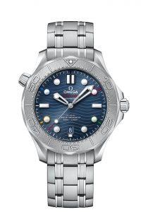 Omega Seamaster Diver 300M Beijing 2022 522.30.42.20.03.001 frontal