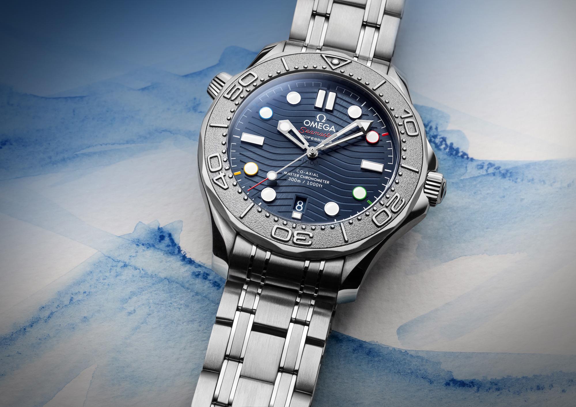 Omega Seamaster Diver 300M Beijing 2022 522.30.42.20.03.001 lifestyle detalle