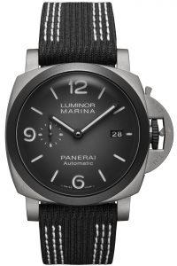 Panerai Luminor Marina 44mm Edición Guillaume Nery PAM01122 detalle frontal