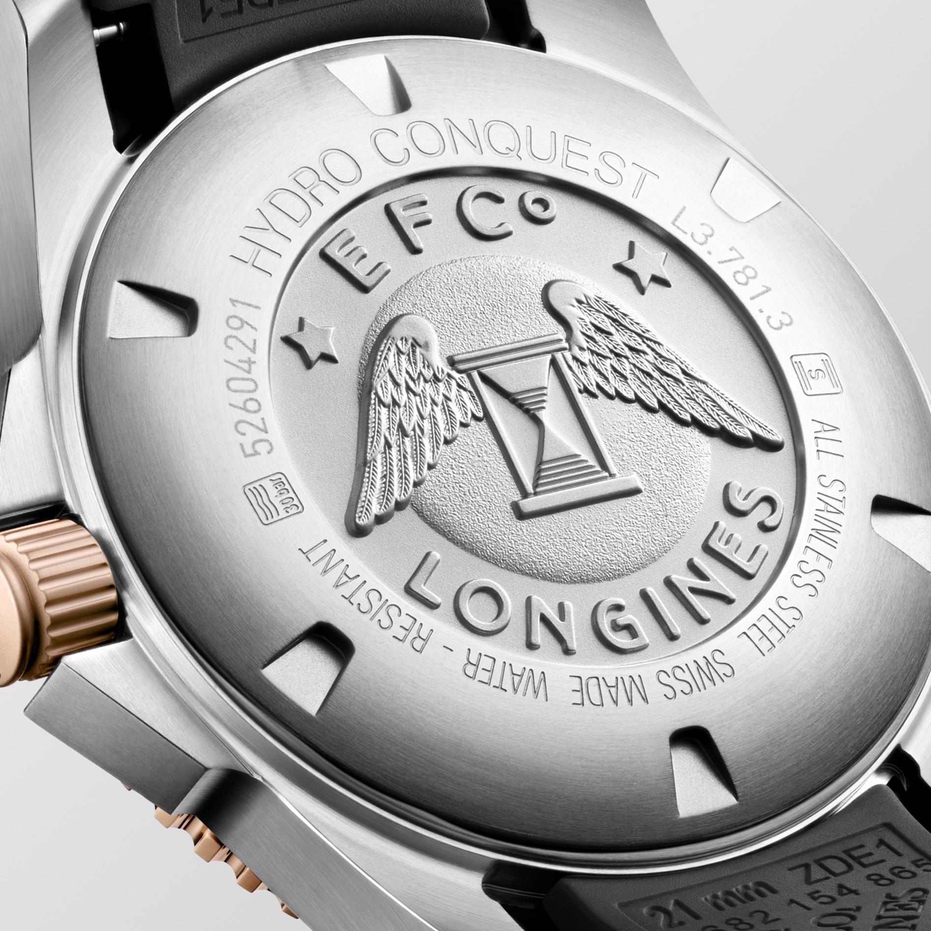 Longines HydroConquest L3.781.3.58.9 detalle trasera