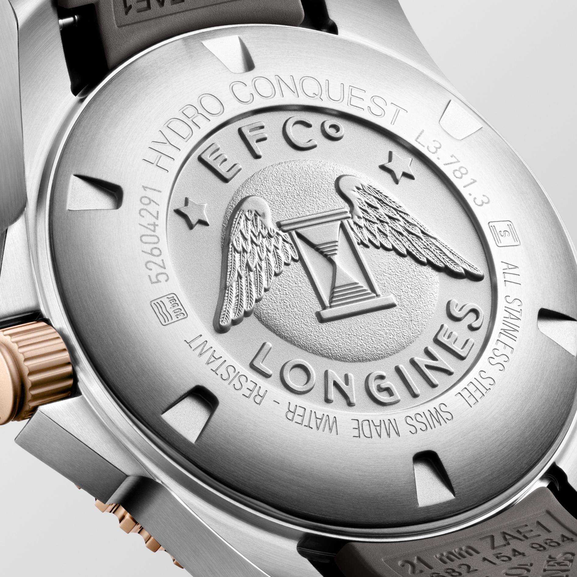 Longines HydroConquest L3.781.3.78.9 detalle trasera