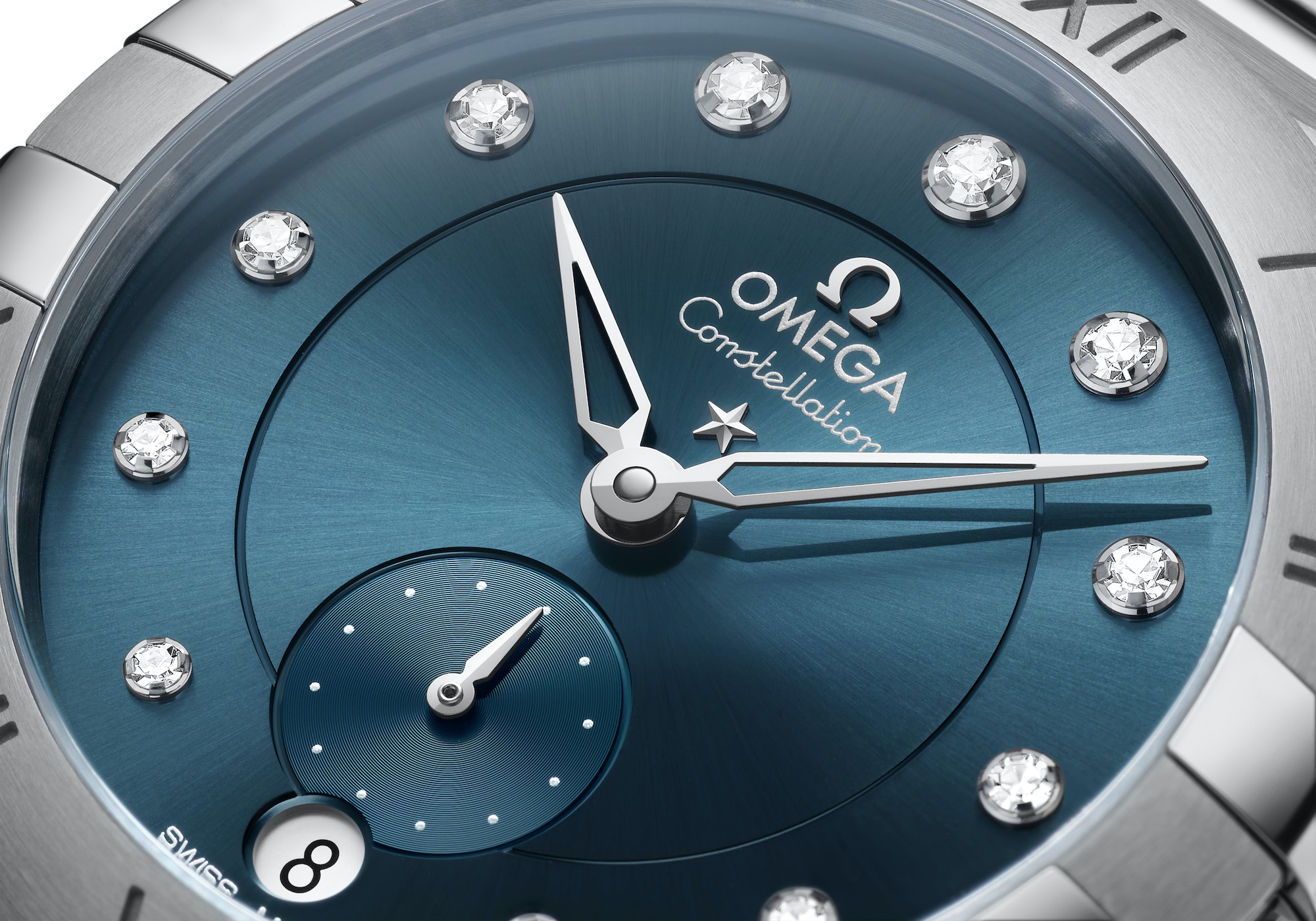 Omega Constellation Small Seconds 131.10.34.20.53.001 detalle esfera