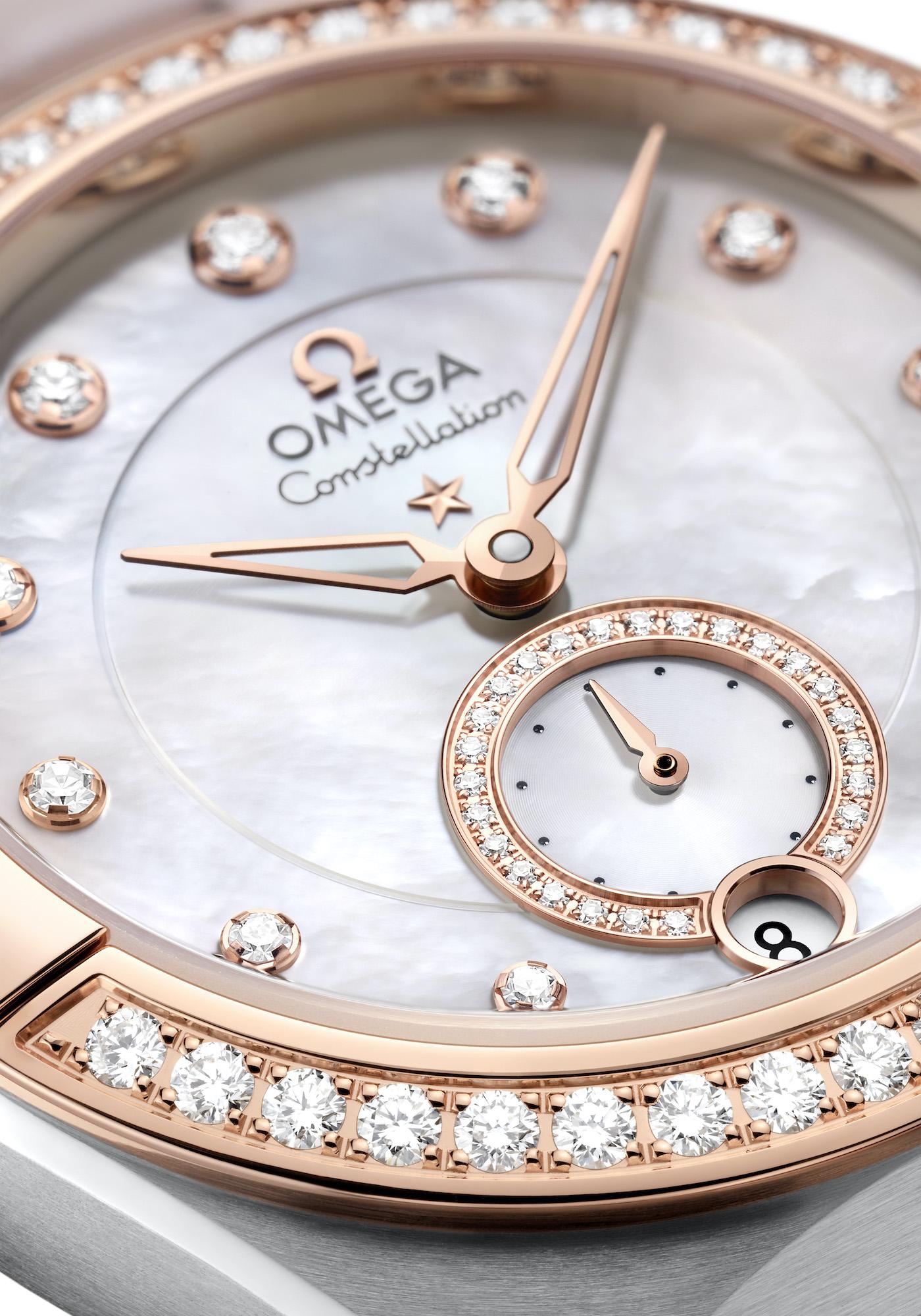Omega Constellation Small Seconds 131.28.34.20.55.001 detalle esfera