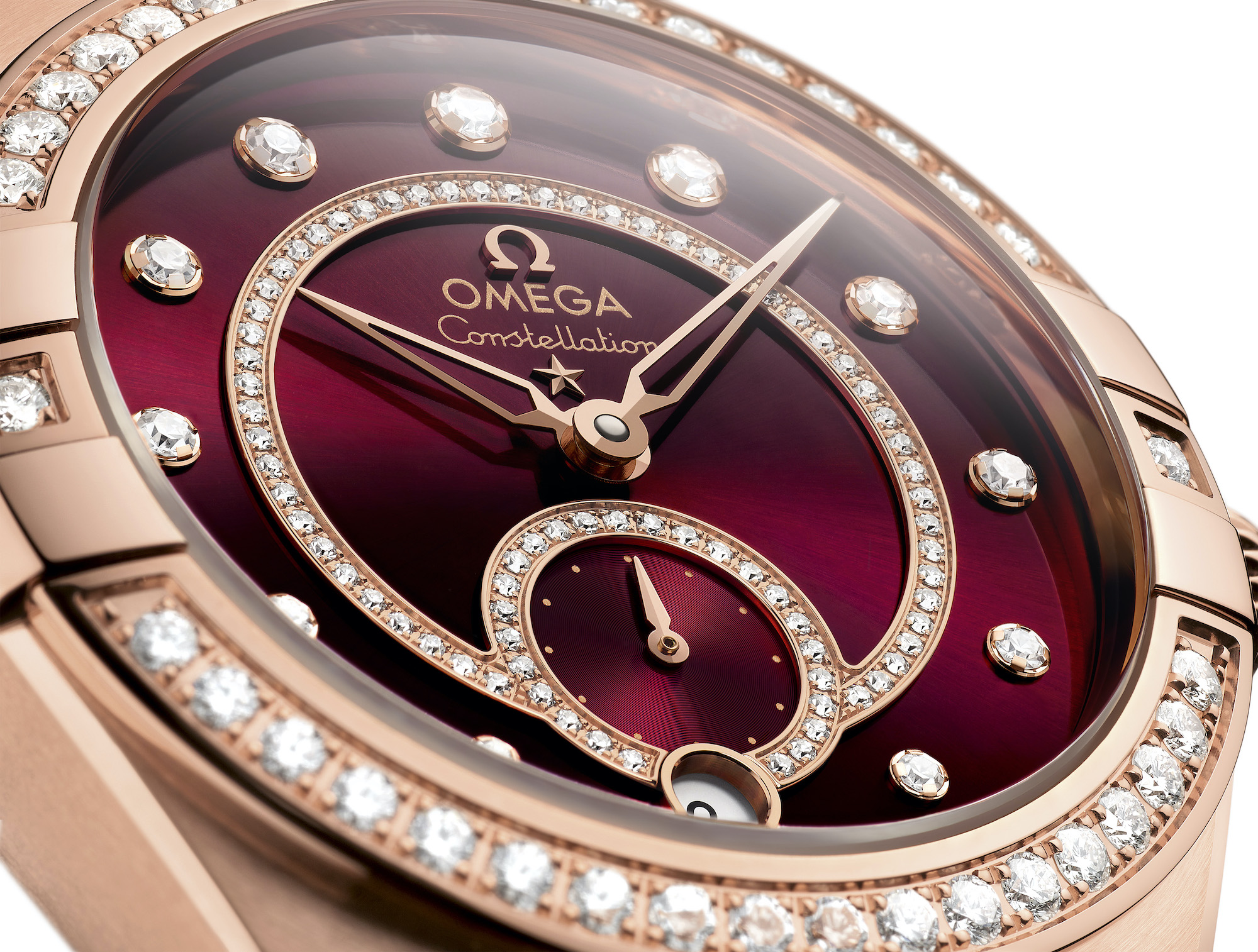 Omega Constellation Small Seconds 131.55.34.20.61.001 detalle esfera