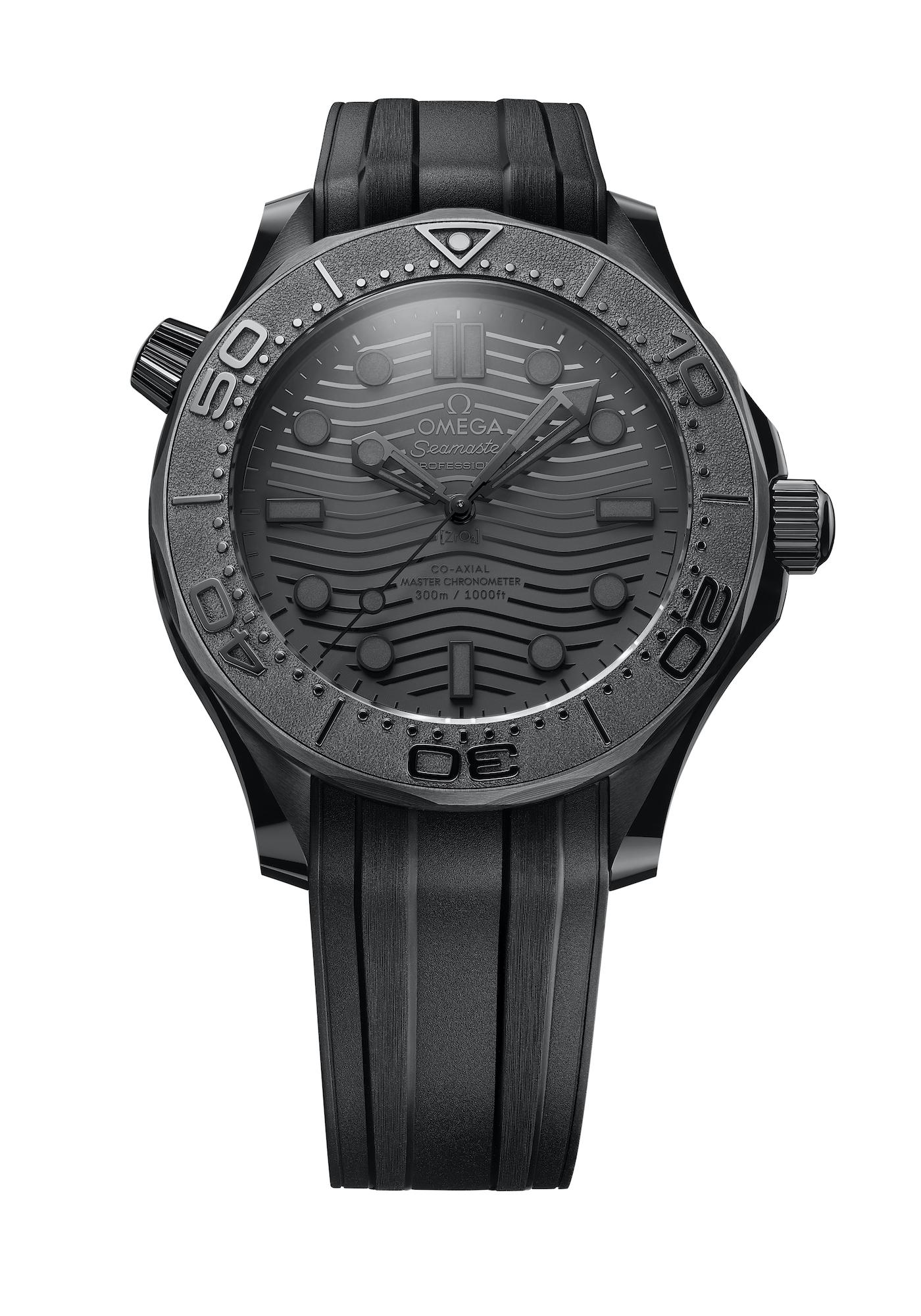 Omega Seamaster Diver 300M Black Black 210.92.44.20.01.003 detalle frontal