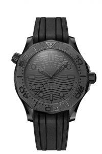 Omega Seamaster Diver 300M Black Black 210.92.44.20.01.003 frontal