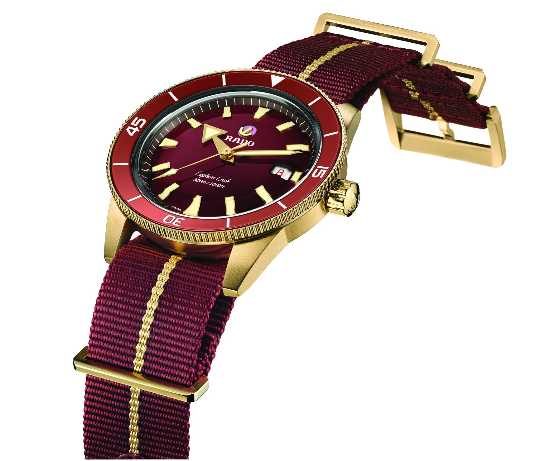 Rado Captain Cook Bronze Burgundy 2