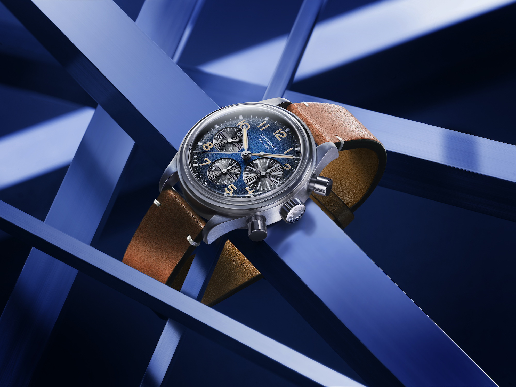 The Longines Avigation BigEye Titanium L2.816.1.93.2 lifestyle
