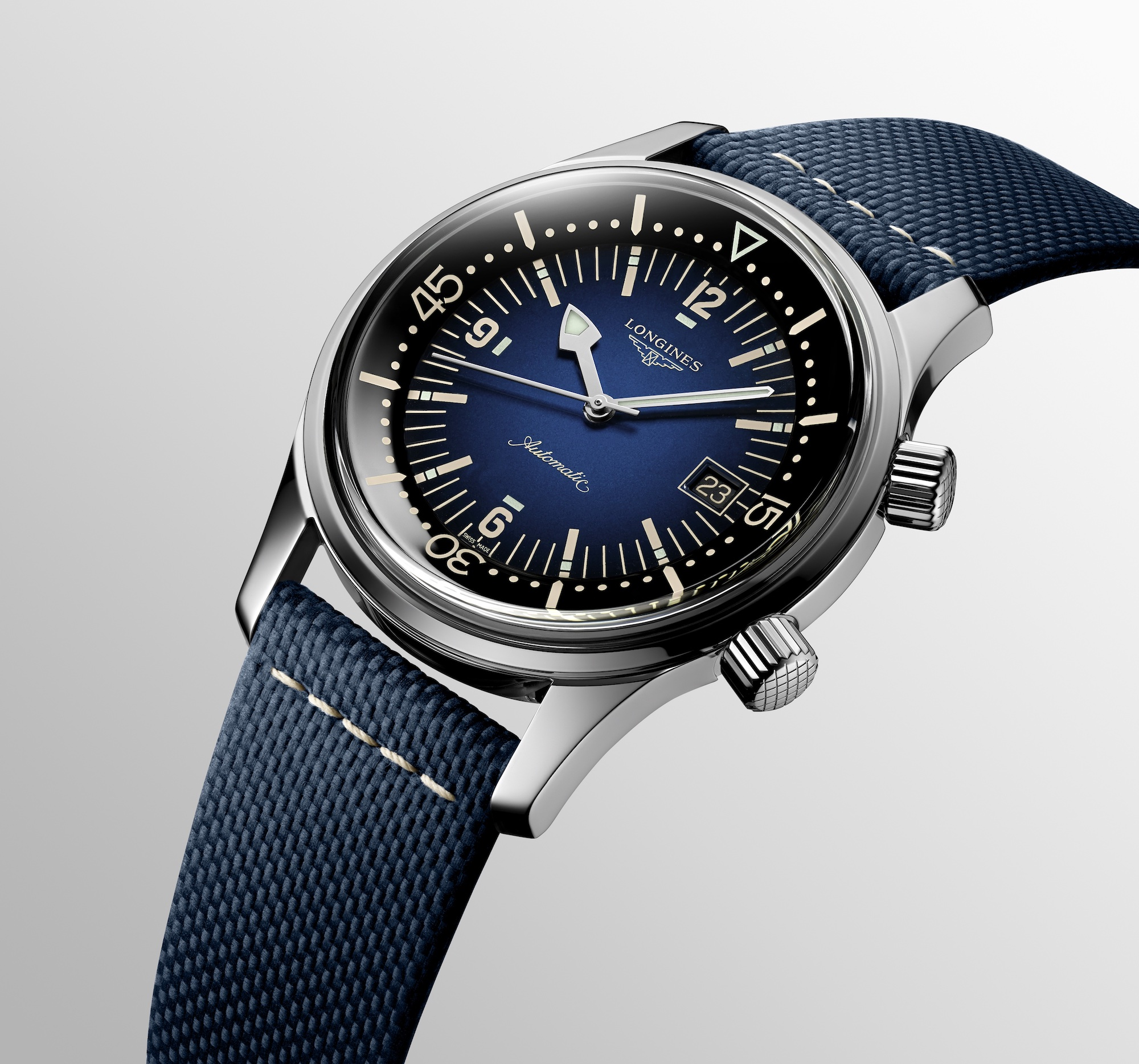 The Longines Legend Diver Watch Azul L3.774.4.90.2