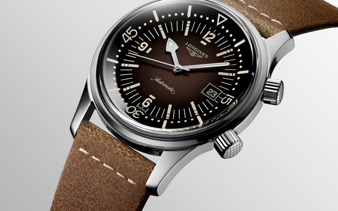 The Longines Legend Diver Watch azul y marrón