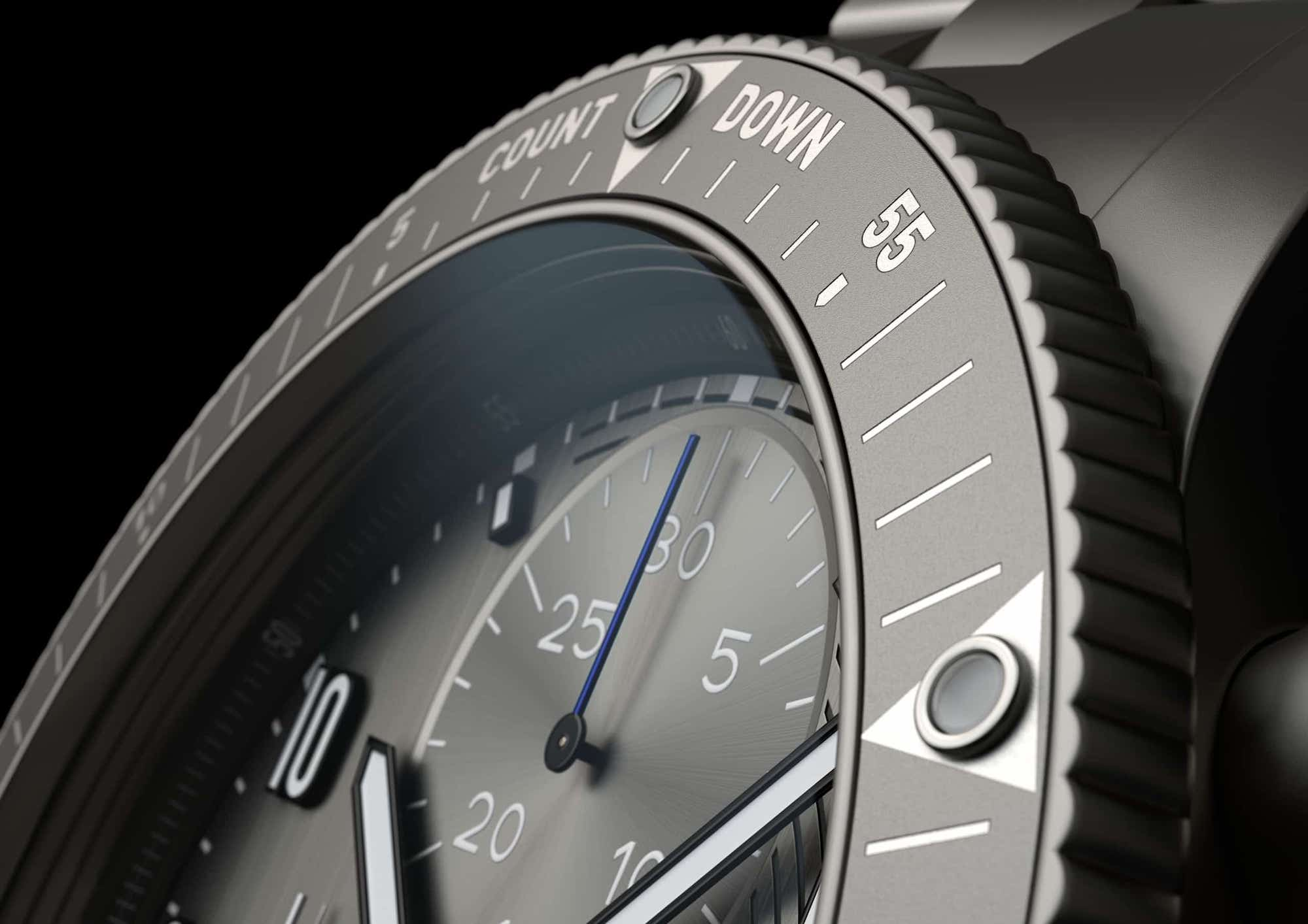 Fortis Official Cosmonauts Chronograph AMADEE-20 Detalle bisel