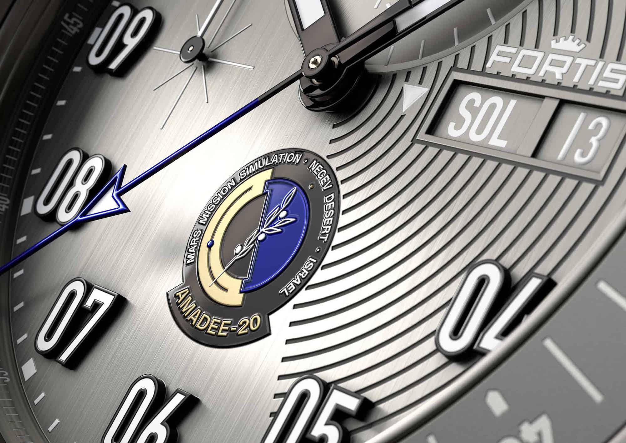 Fortis Official Cosmonauts Chronograph AMADEE-20 Detalle esfera