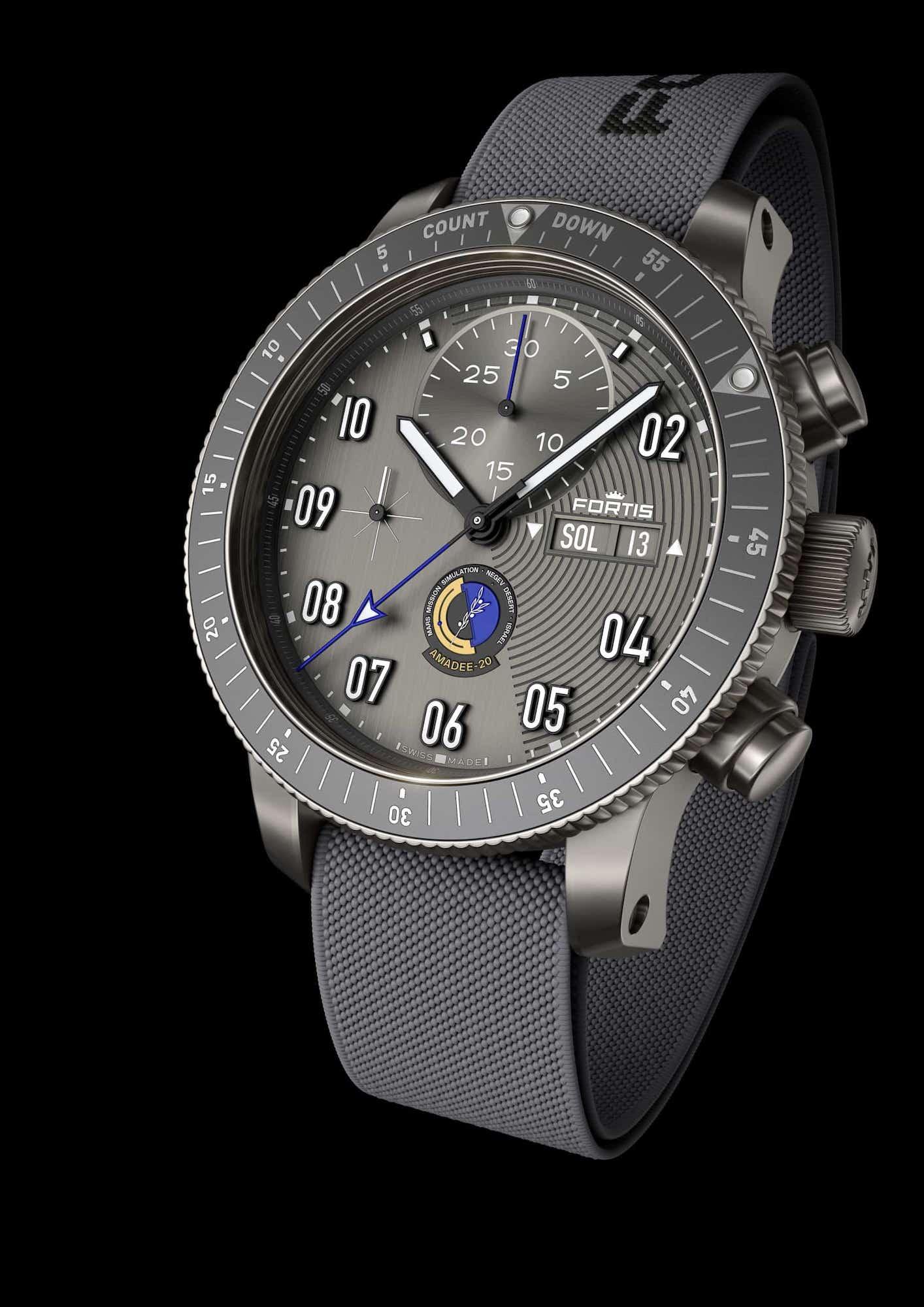 Fortis Official Cosmonauts Chronograph AMADEE-20 Esfera