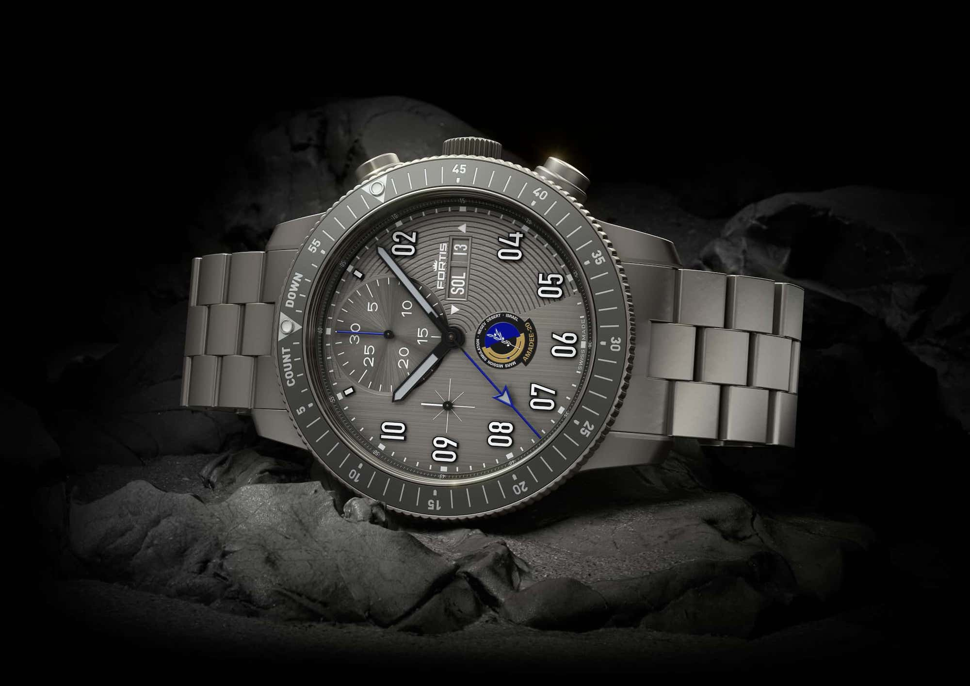 Fortis Official Cosmonauts Chronograph AMADEE-20 Lifestyle 3