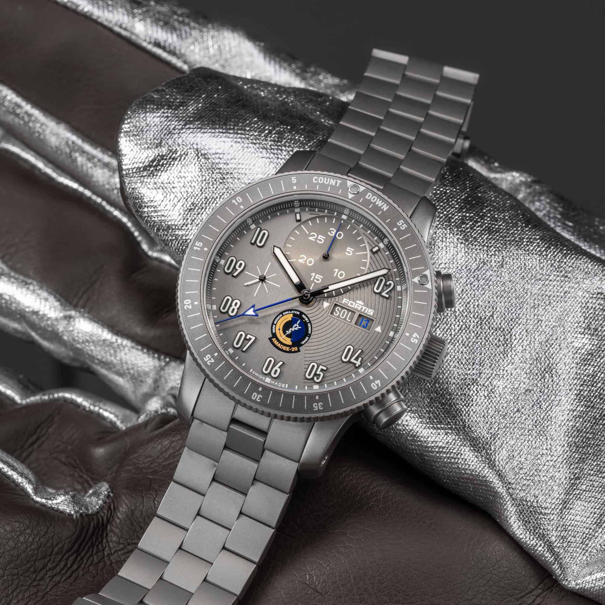Fortis Official Cosmonauts Chronograph AMADEE-20 Lifestyle
