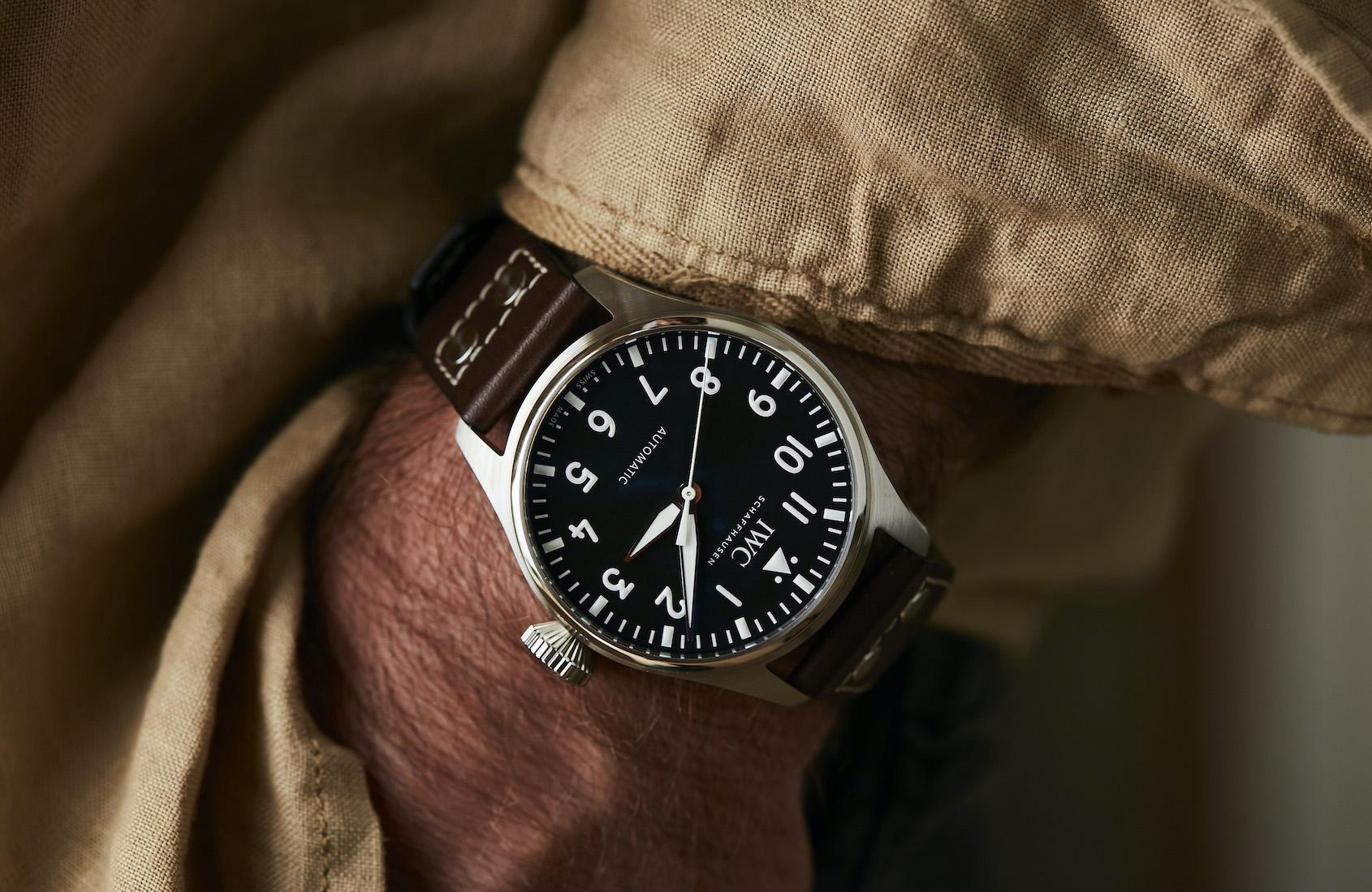 IWC Big Pilot Watch 43 IW329301 Lifestyle wirstshot