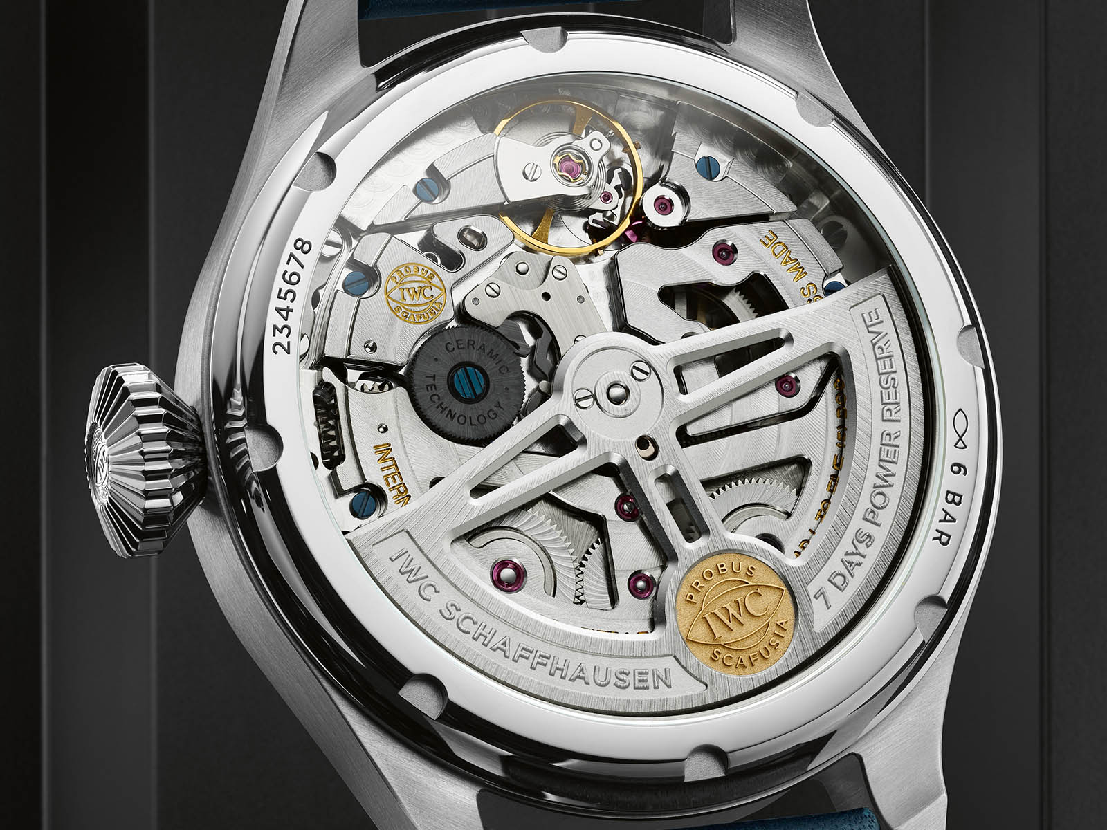IWC Big Pilot Watch Perpetual Calendar IW503605 Detalle trasera