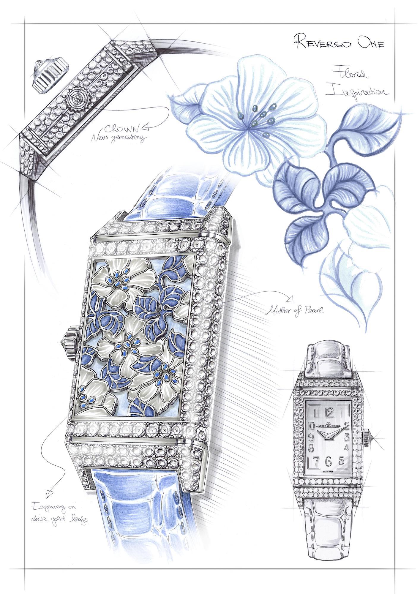 Jaeger-LeCoultre Reverso One Precious Flowers q3293420 Sketch