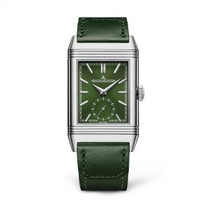Jaeger-LeCoultre Reverso Tribute Small Seconds verde Frontal