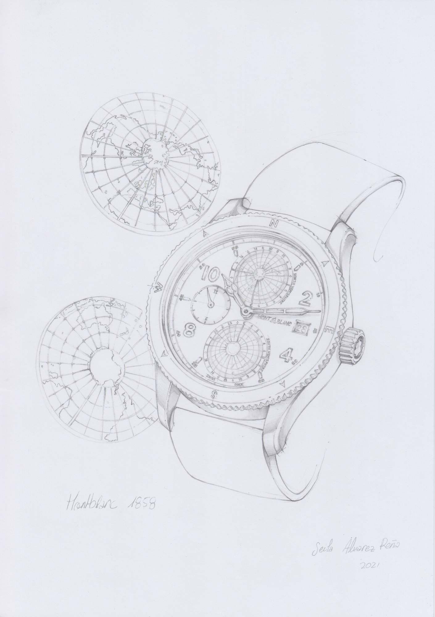 Montblanc 1858 Geosphere Limited Edition 1858 Sketch