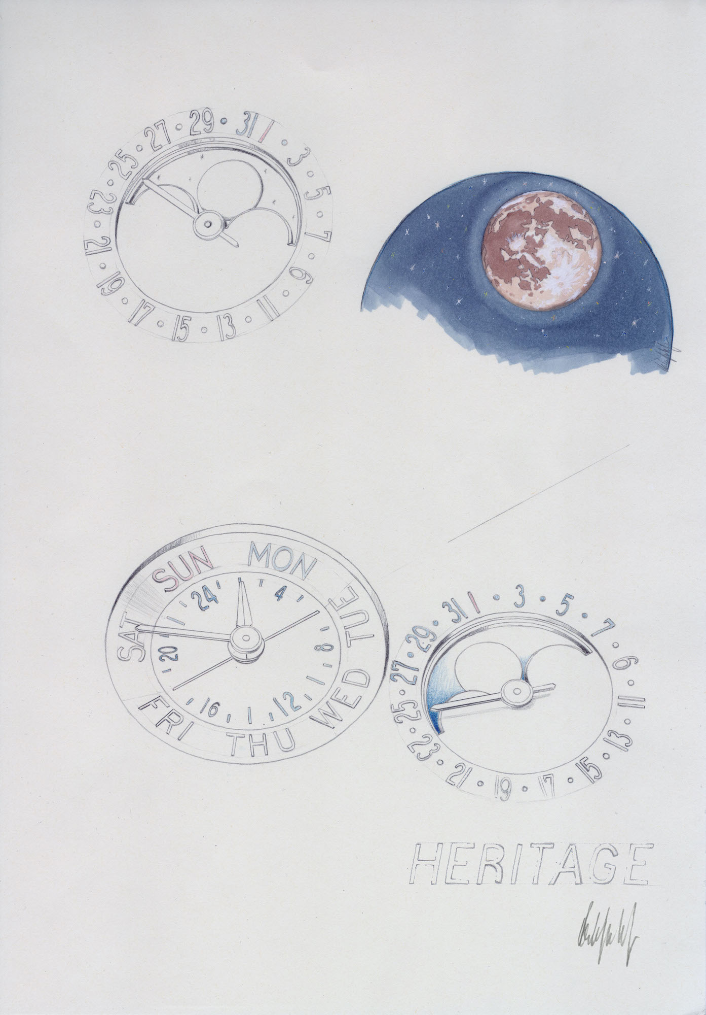 Montblanc Heritage Perpetual Calendar Limited edition 100 Sketch