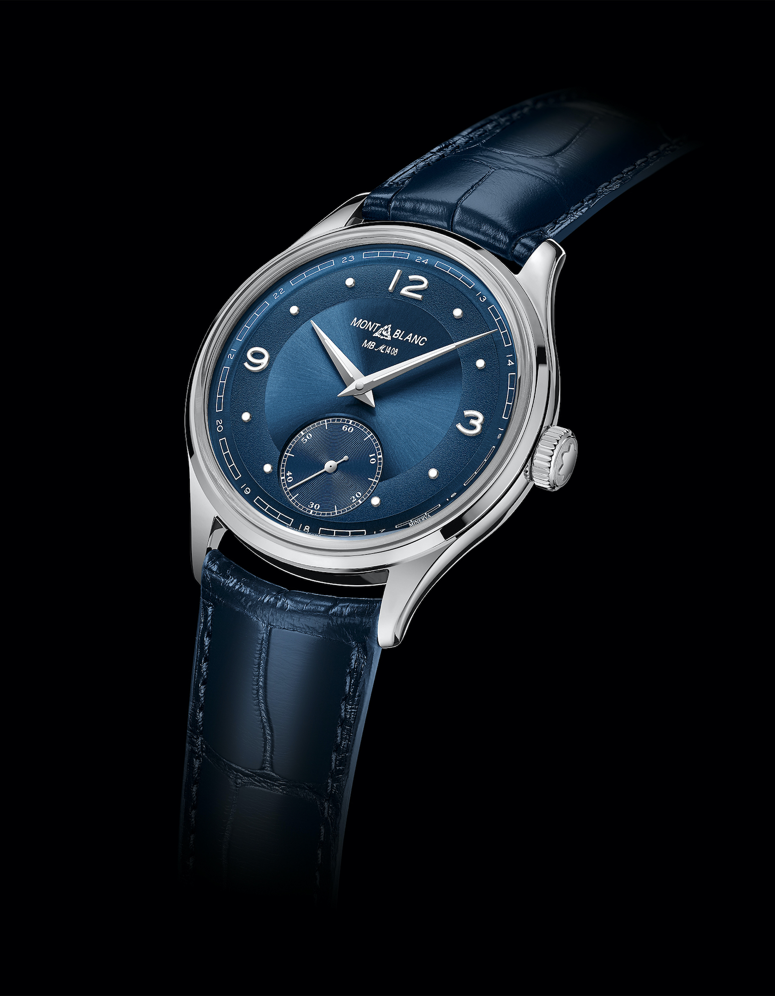 Montblanc Heritage Pythagore Small Second Limited Edition 148 azul lifestyle