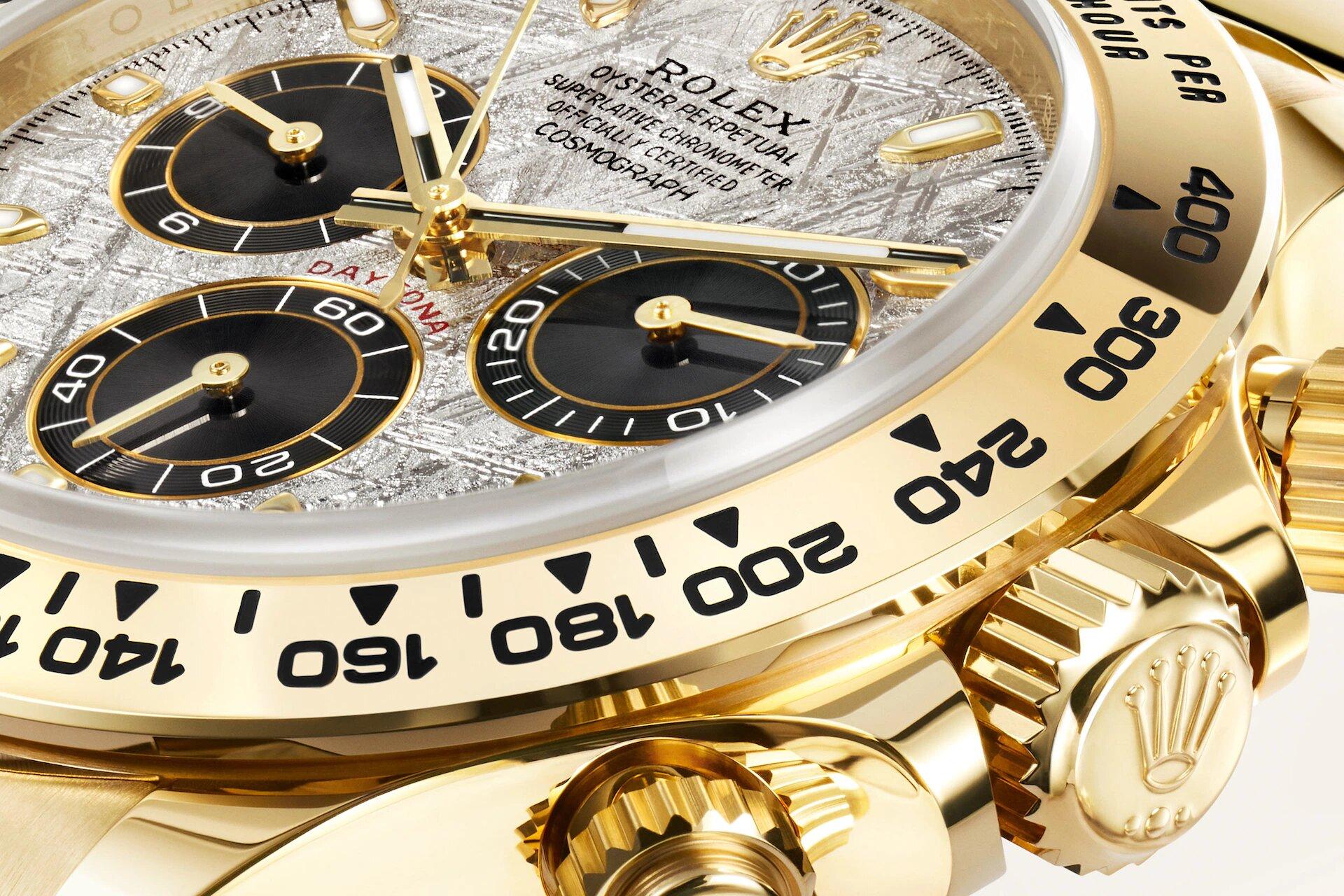 Rolex Cosmograph Daytona 116508 Detalle esfera y bisel