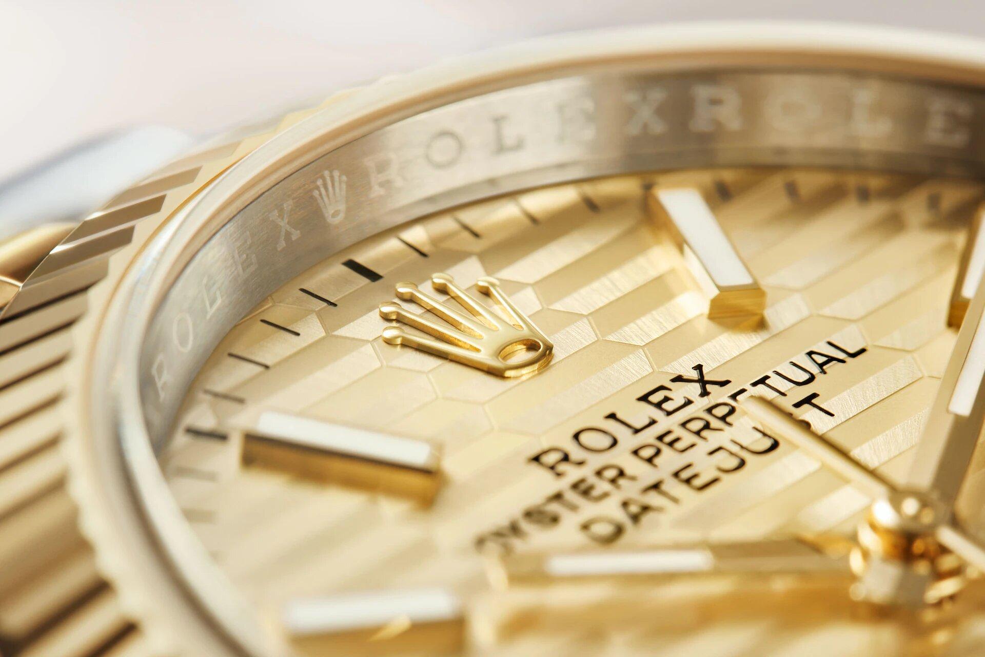Rolex Datejust 36 126233 esfera acalanada Detalle esfera y bisel