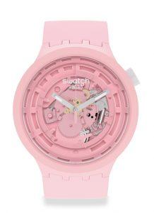 Swatch Big Bold Bioceramic powder pink Detalle esfera