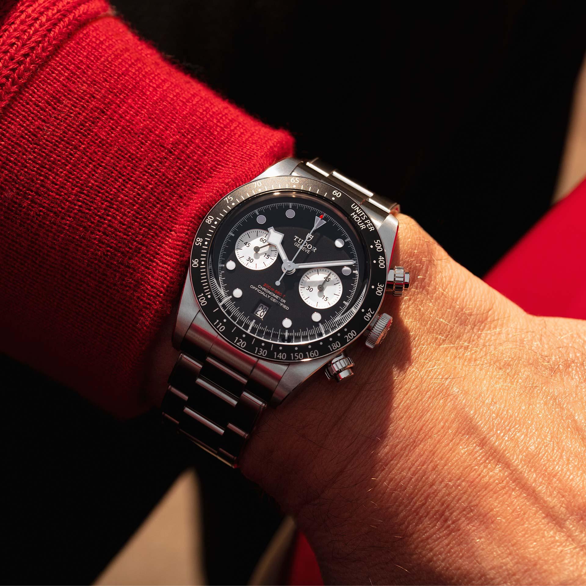 Tudor Black Bay Chrono M79360N-0001 Lifestyle wristshot
