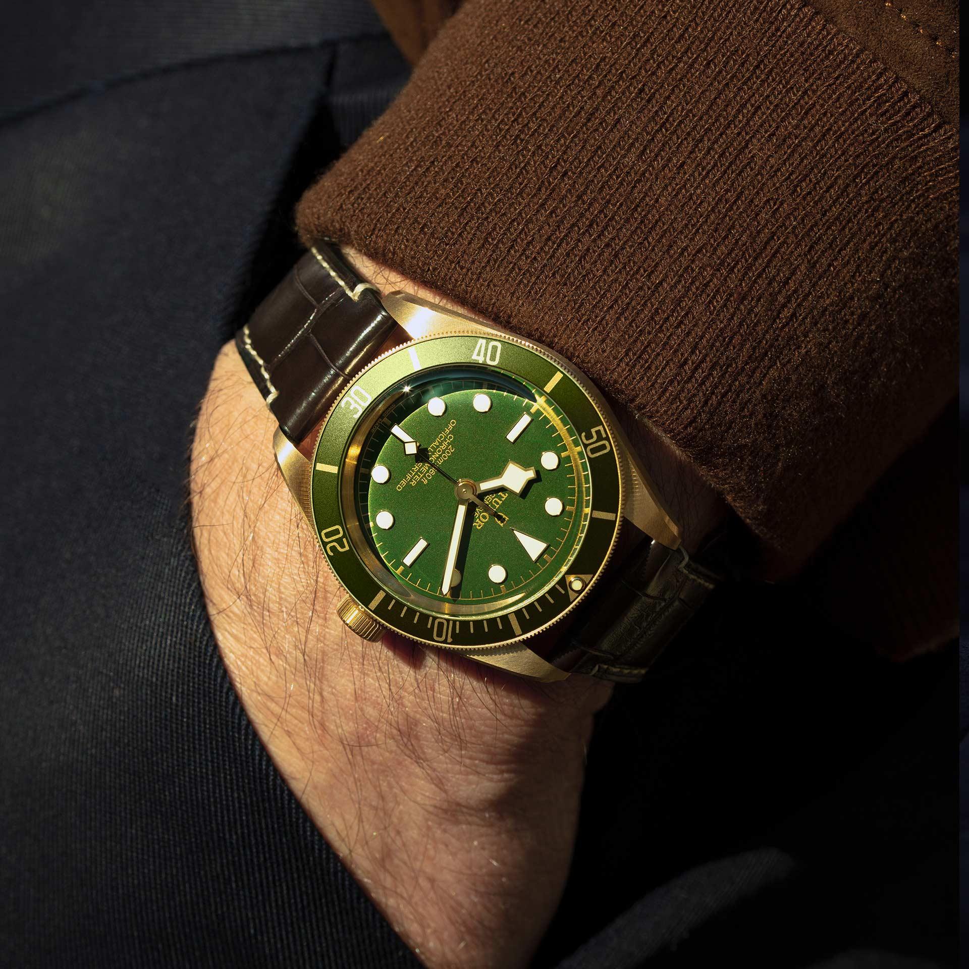 Tudor Black Bay Fifty-Eight 18K M79018V-0001 Lifestyle wristshot