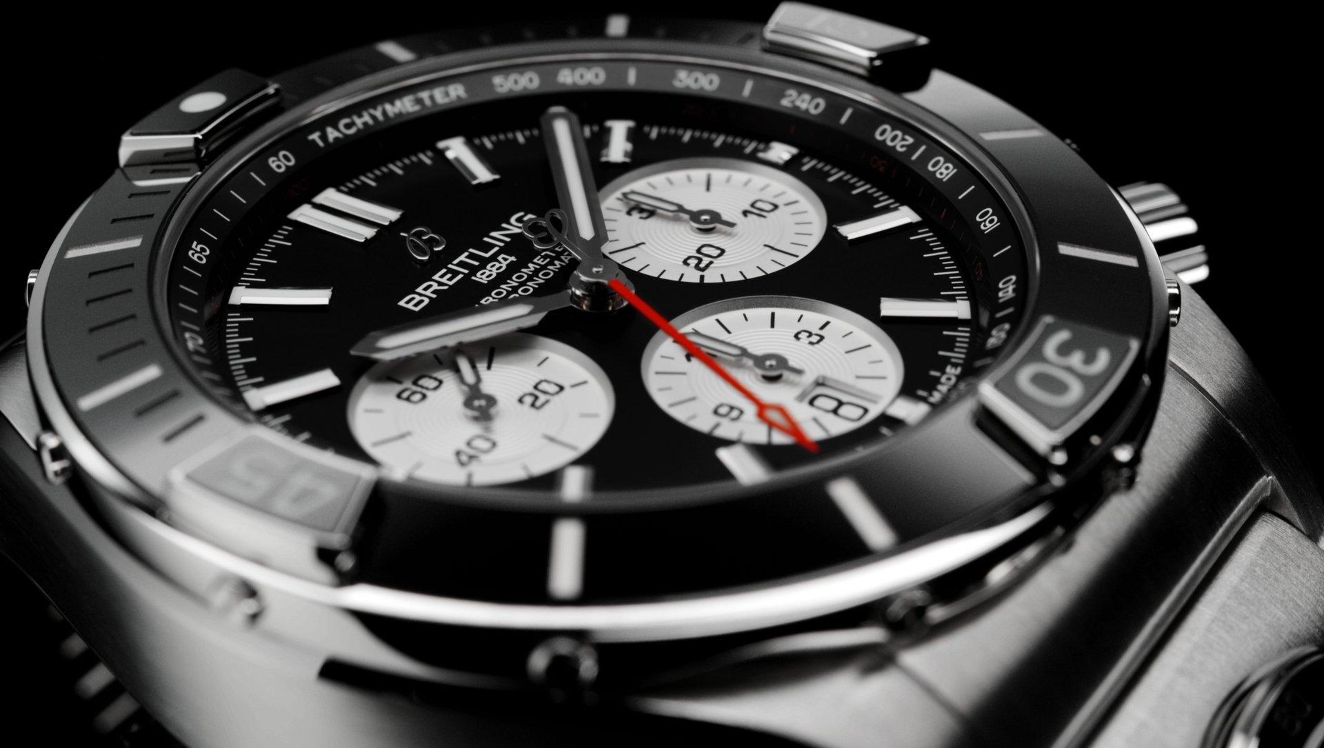 Breitling Super Chronomat B01 44 AB0136251B1A2 Detalle esfera