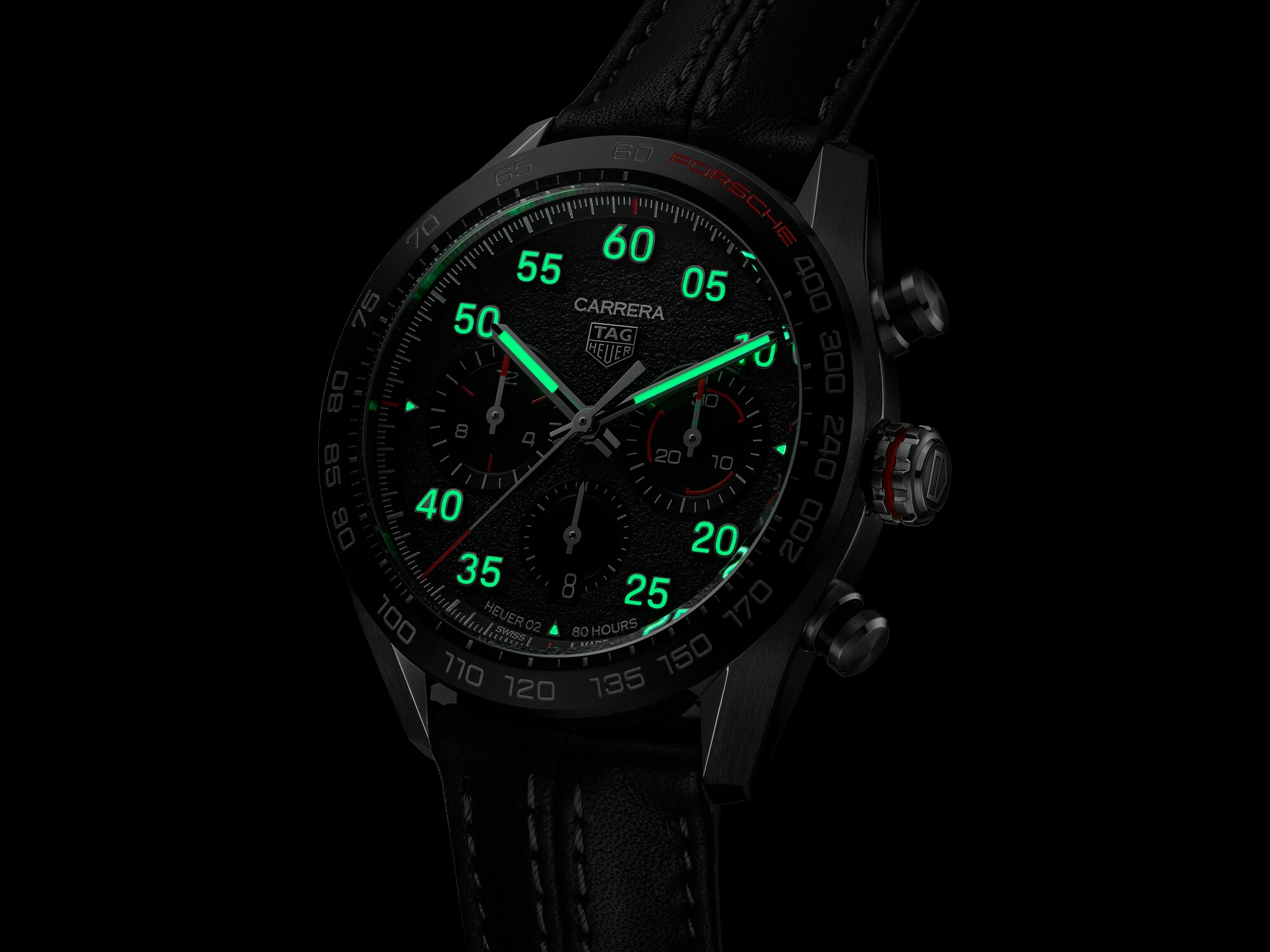 TAG Heuer Carrera Porsche Chronograph Special Edition CBN2A1F.FC6492 Luminiscencia
