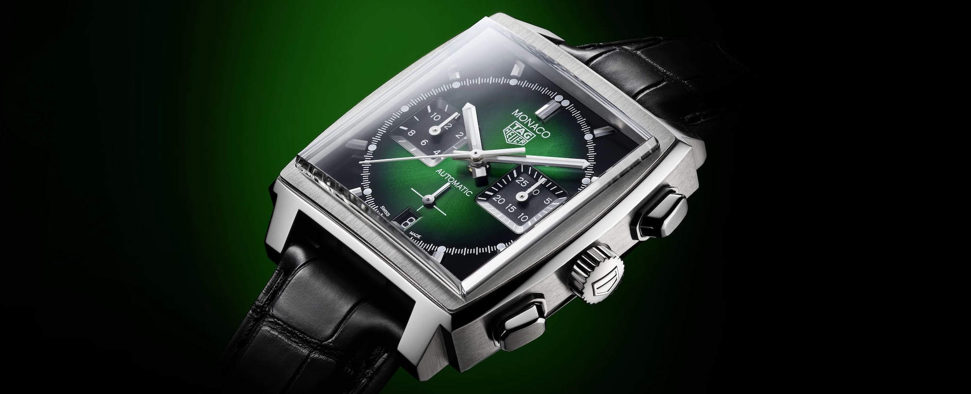 TAG Heuer Monaco Green Dial CBL2116.FC6497 Lifestyle esfera
