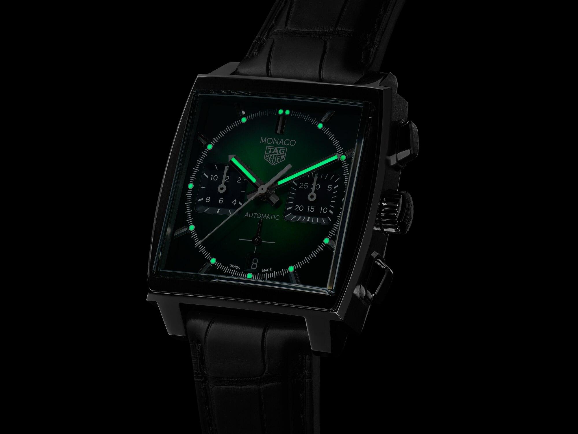TAG Heuer Monaco Green Dial CBL2116.FC6497 Luminiscencia