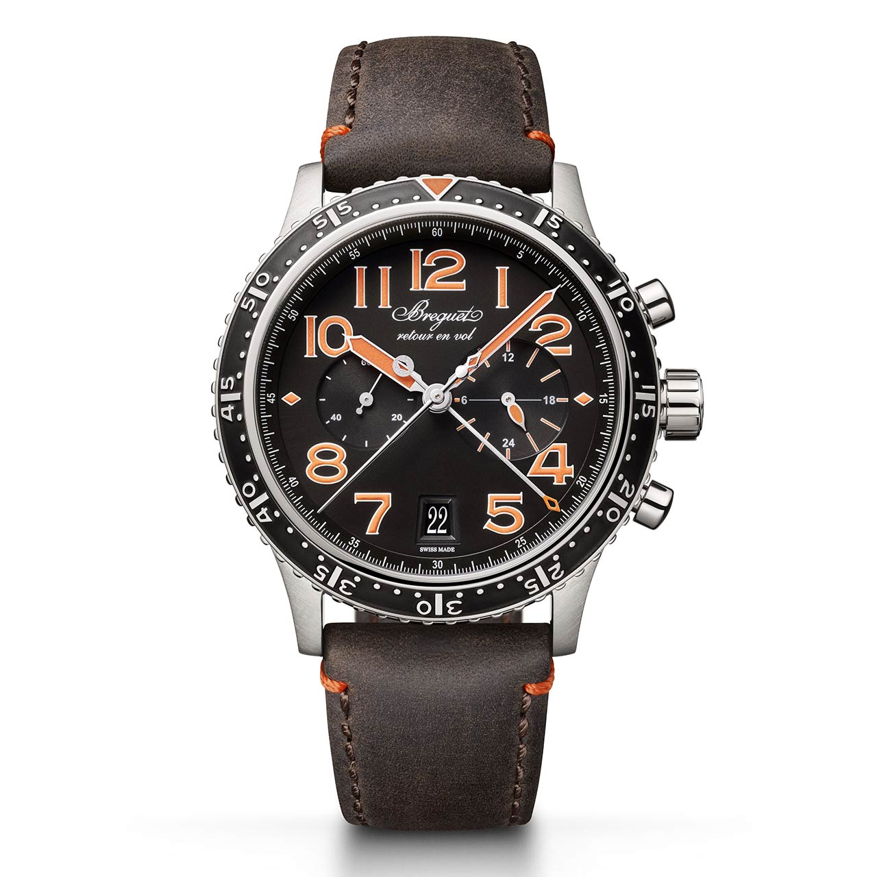 Breguet Type XXI 3815 Orange Limited edition 3815TI:HO:3ZU Frontal