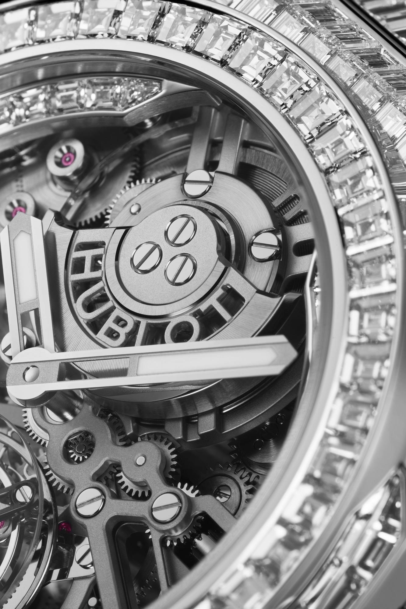 Hublot Big Bang Integral Tourbillon High Jewellery 455.WX.9000.WX.9904 Detalle esfera