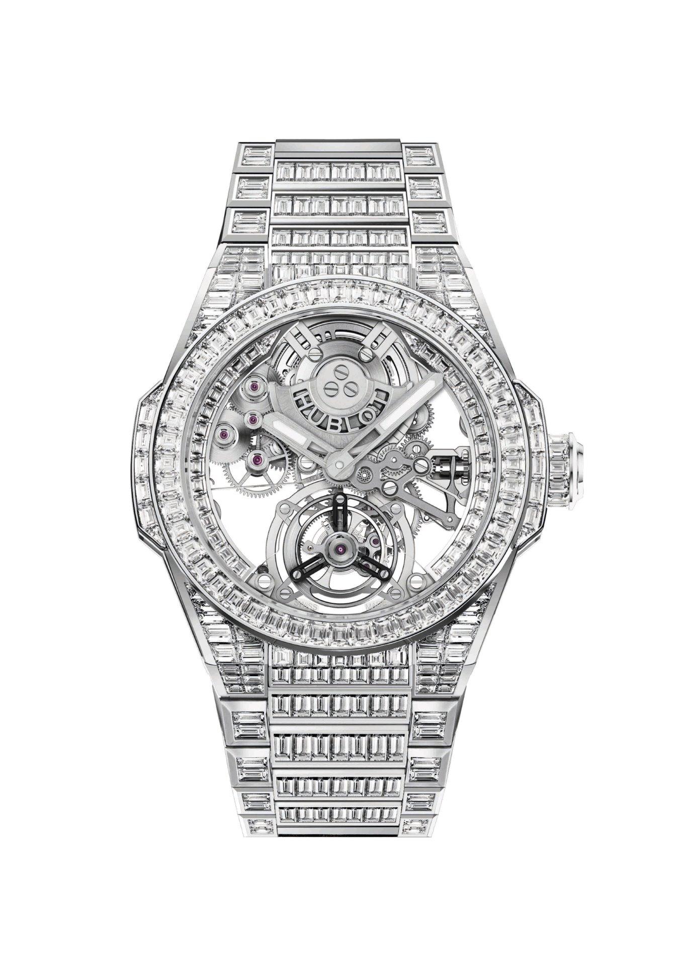 Hublot Big Bang Integral Tourbillon High Jewellery 455.WX.9000.WX.9904 Frontal