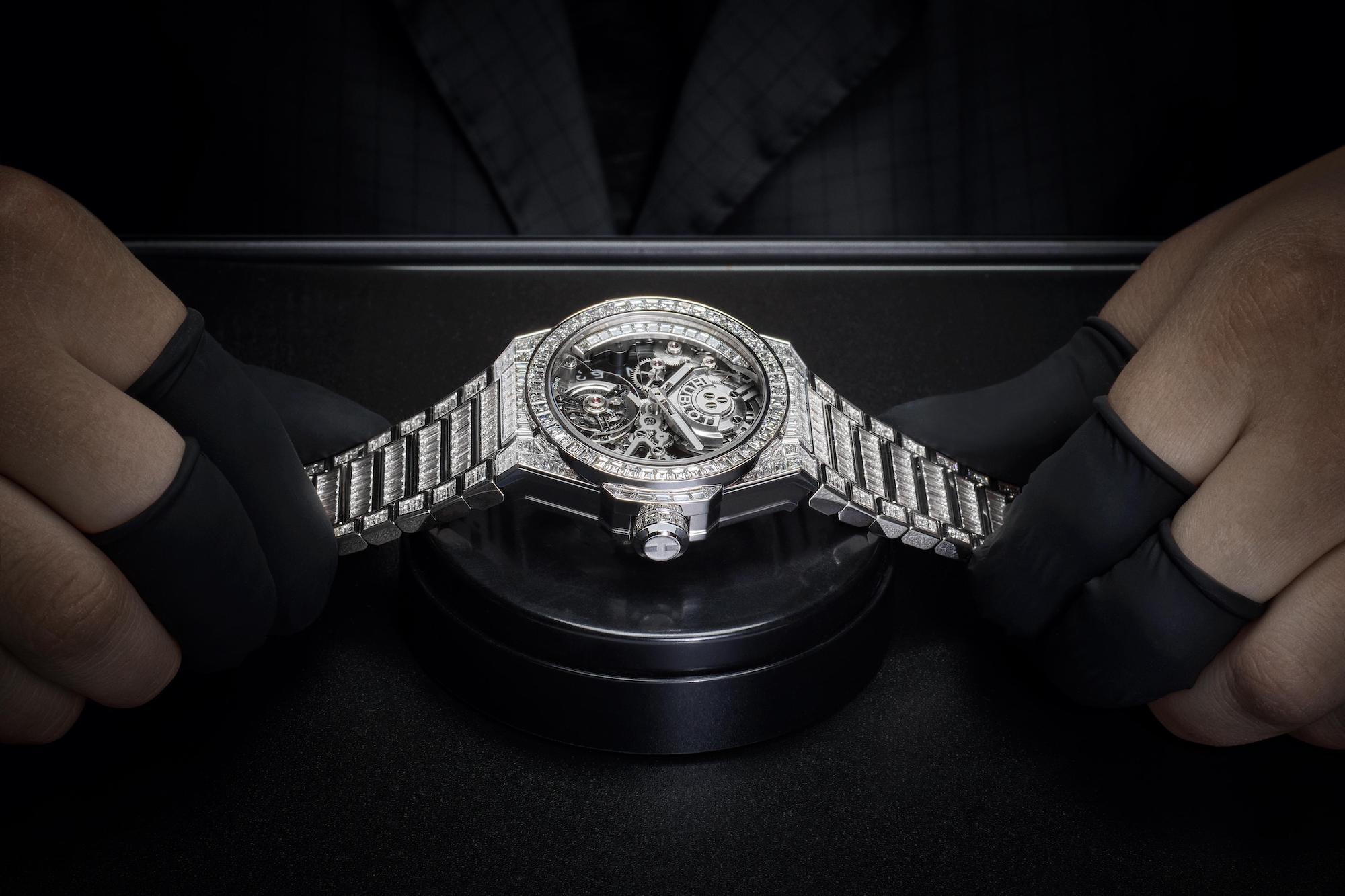 Hublot Big Bang Integral Tourbillon High Jewellery 455.WX.9000.WX.9904 Watch making