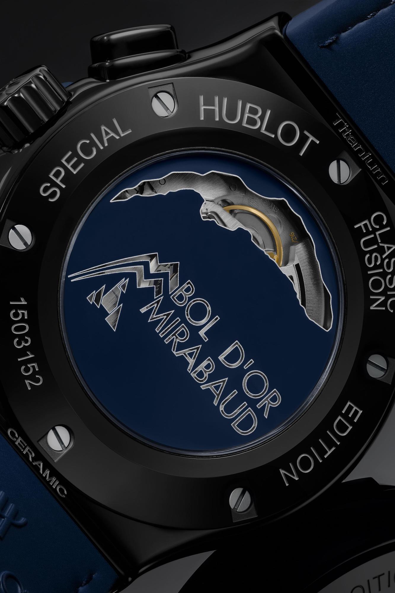 Hublot Classic Fusion Chronograph Bol d'Or Mirabaud 521.CM.7070.NR.BOM Detalle trasera