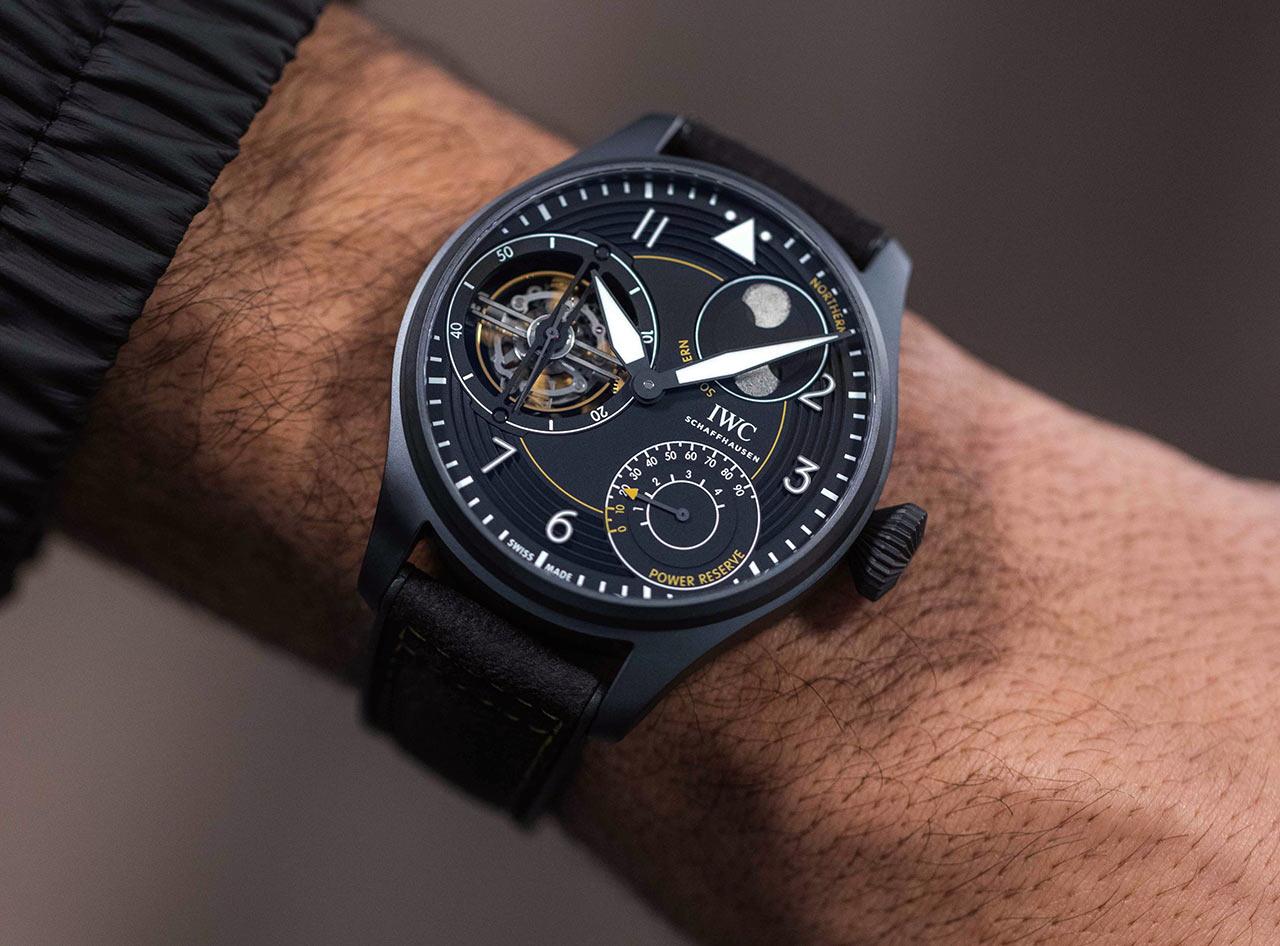 "IWC Big Pilot's Watch Constant Force Tourbillon Edition ""IWC RACING"" IW590501 Lifestyle wristshot"