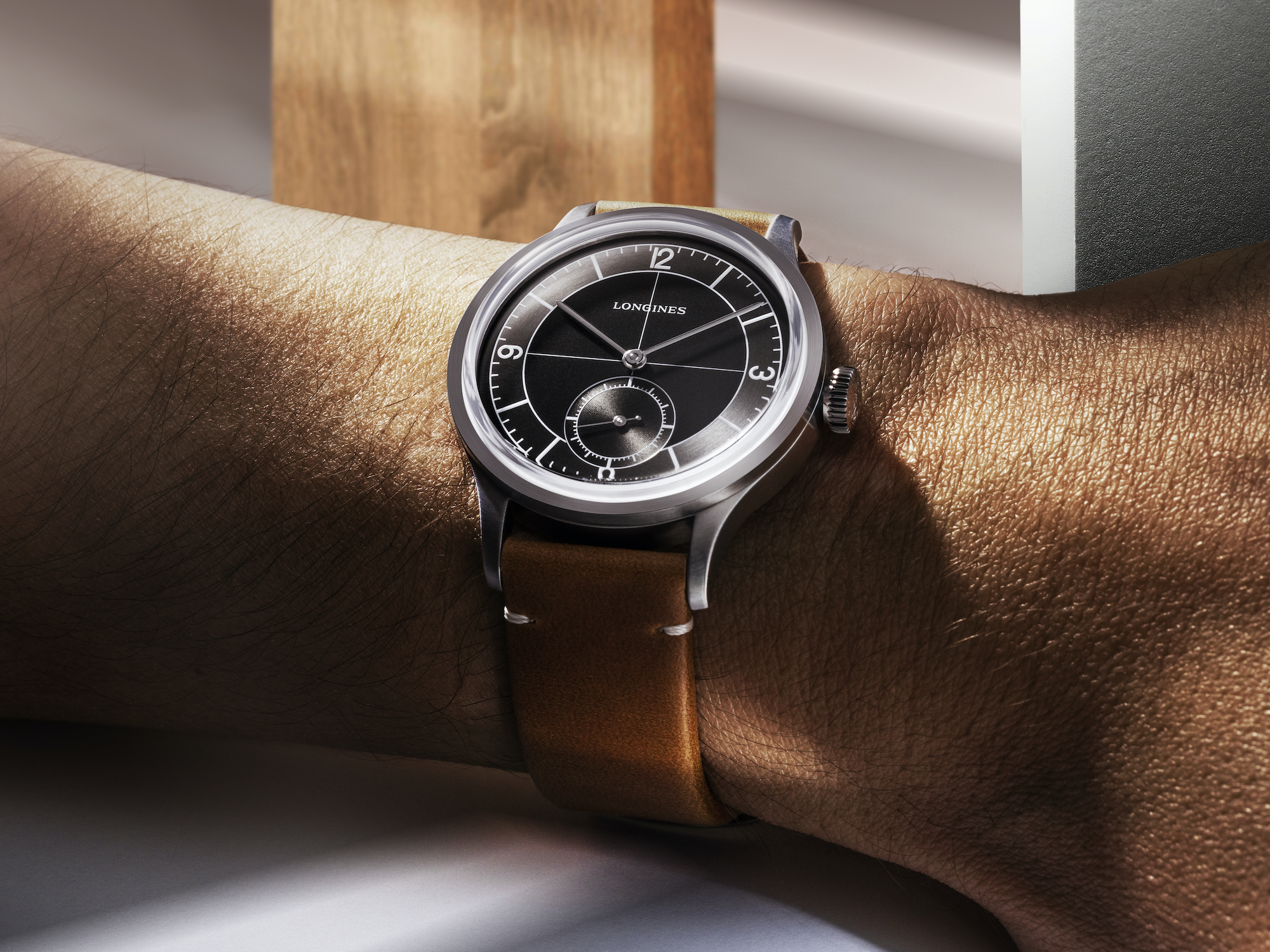 The Longines Heritage Classic L2.828.4.53.2 Lifestyle wristshot