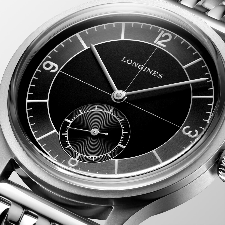 The Longines Heritage Classic L2.828.4.53.6 Detalle esfera