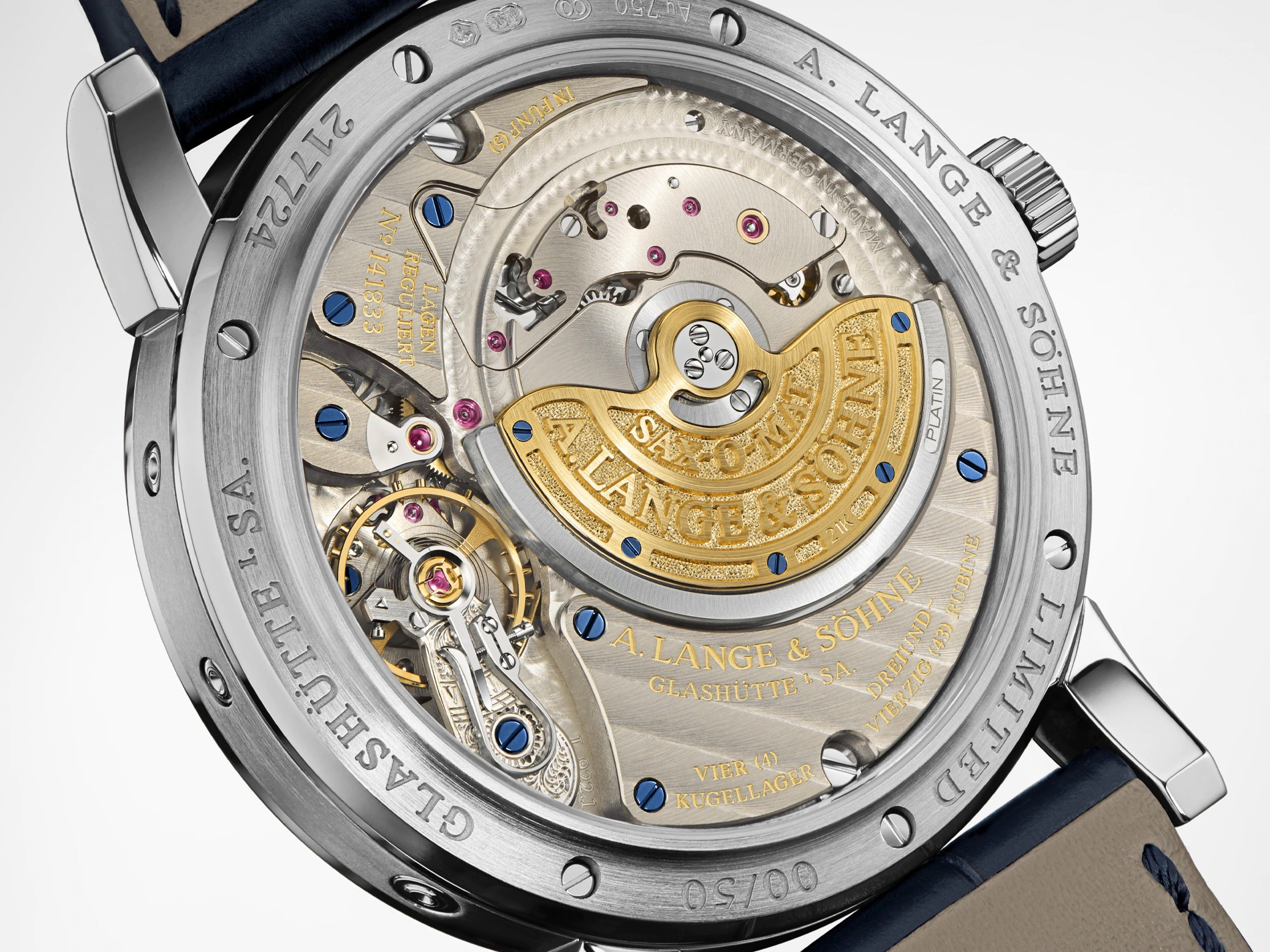 A Lange & Söhne Langematik Perpetual Limited Anniversary Editions 310.028 Detalle trasera