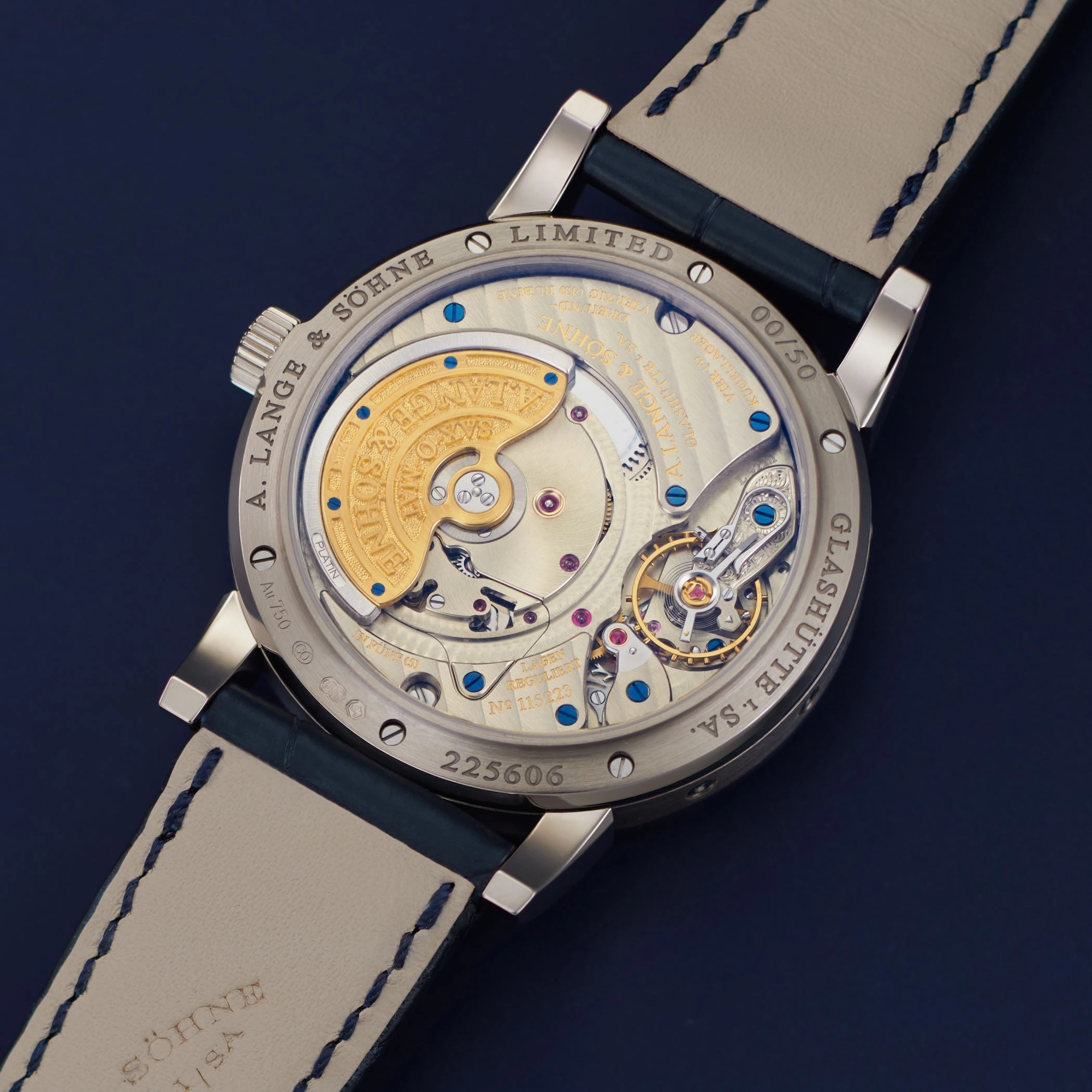A Lange & Söhne Langematik Perpetual Limited Anniversary Editions 310.028 Lifestyle trasera