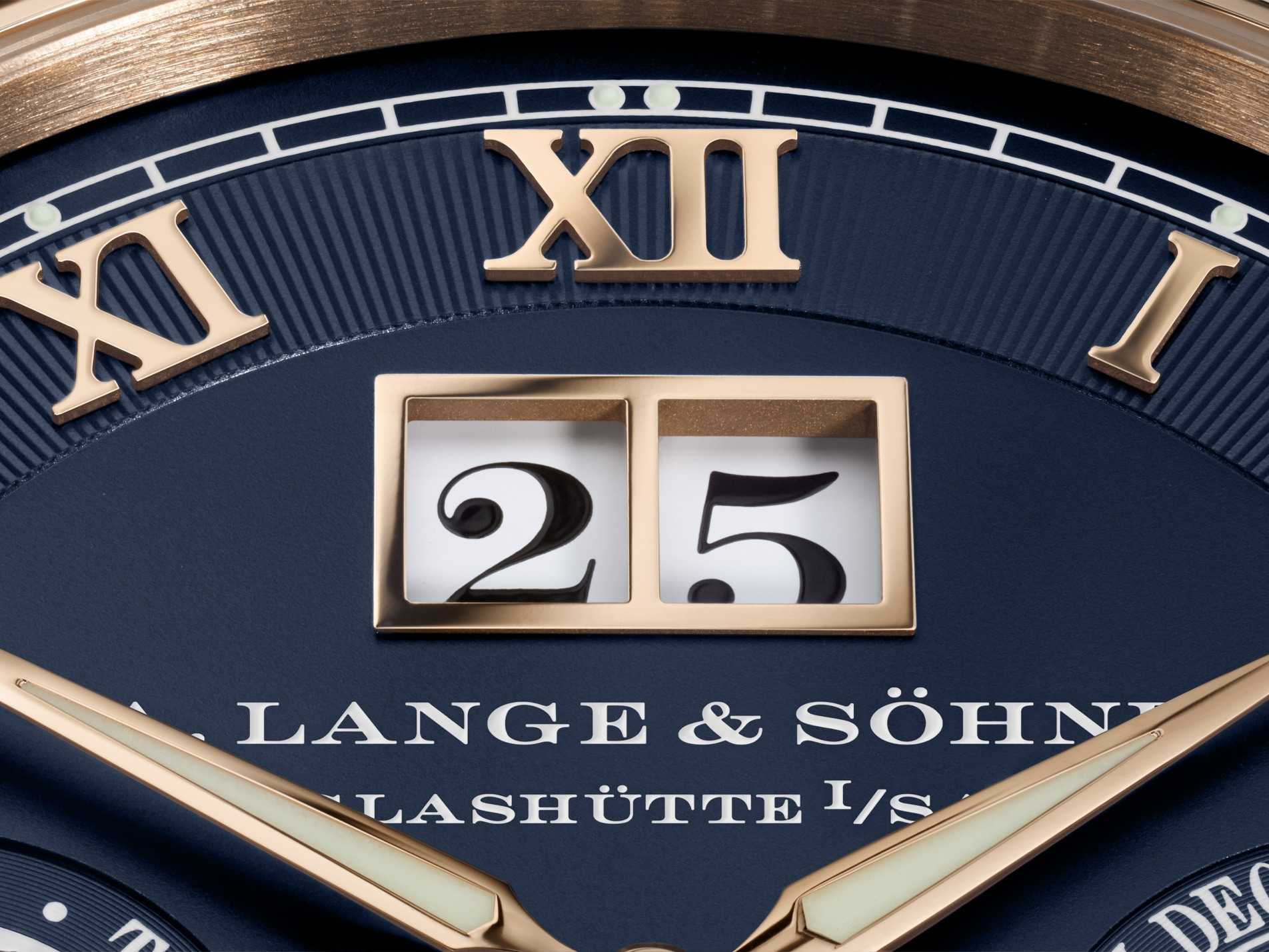 A Lange & Söhne Langematik Perpetual Limited Anniversary Editions 310.037 Detalle fechador